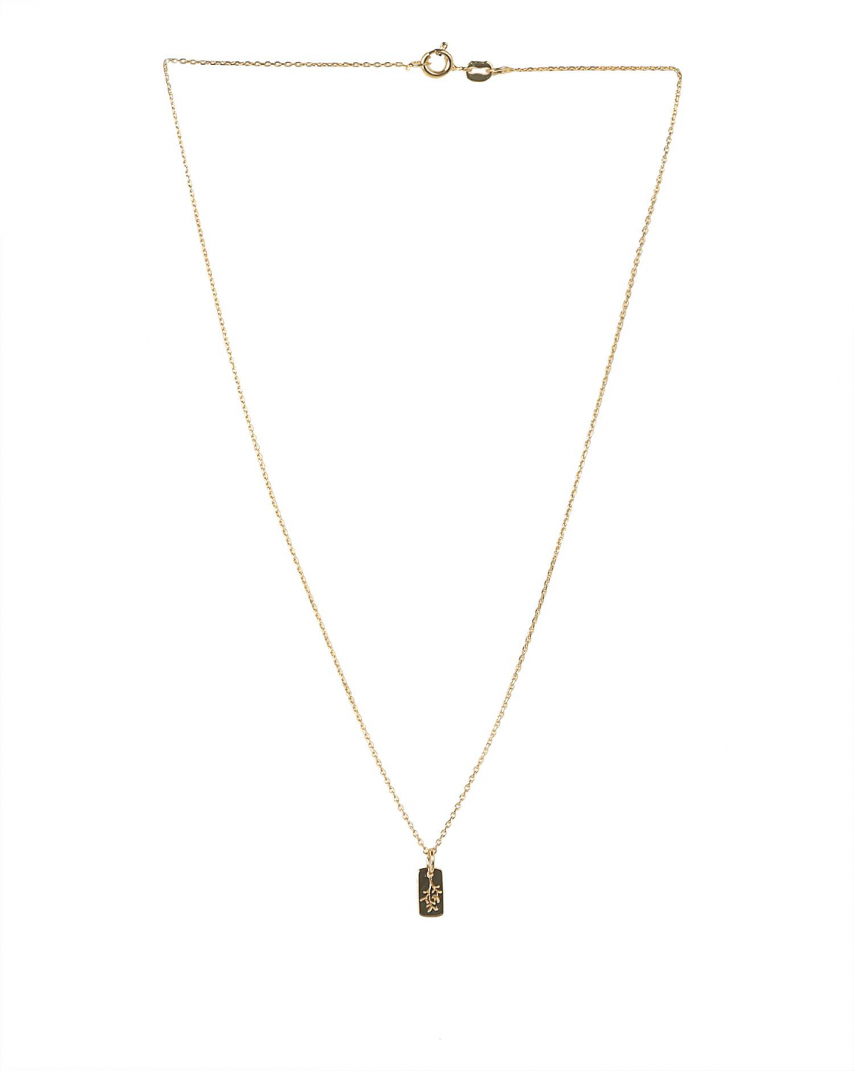 Luj Paris Collier Pendentif Fleurs rectangle
