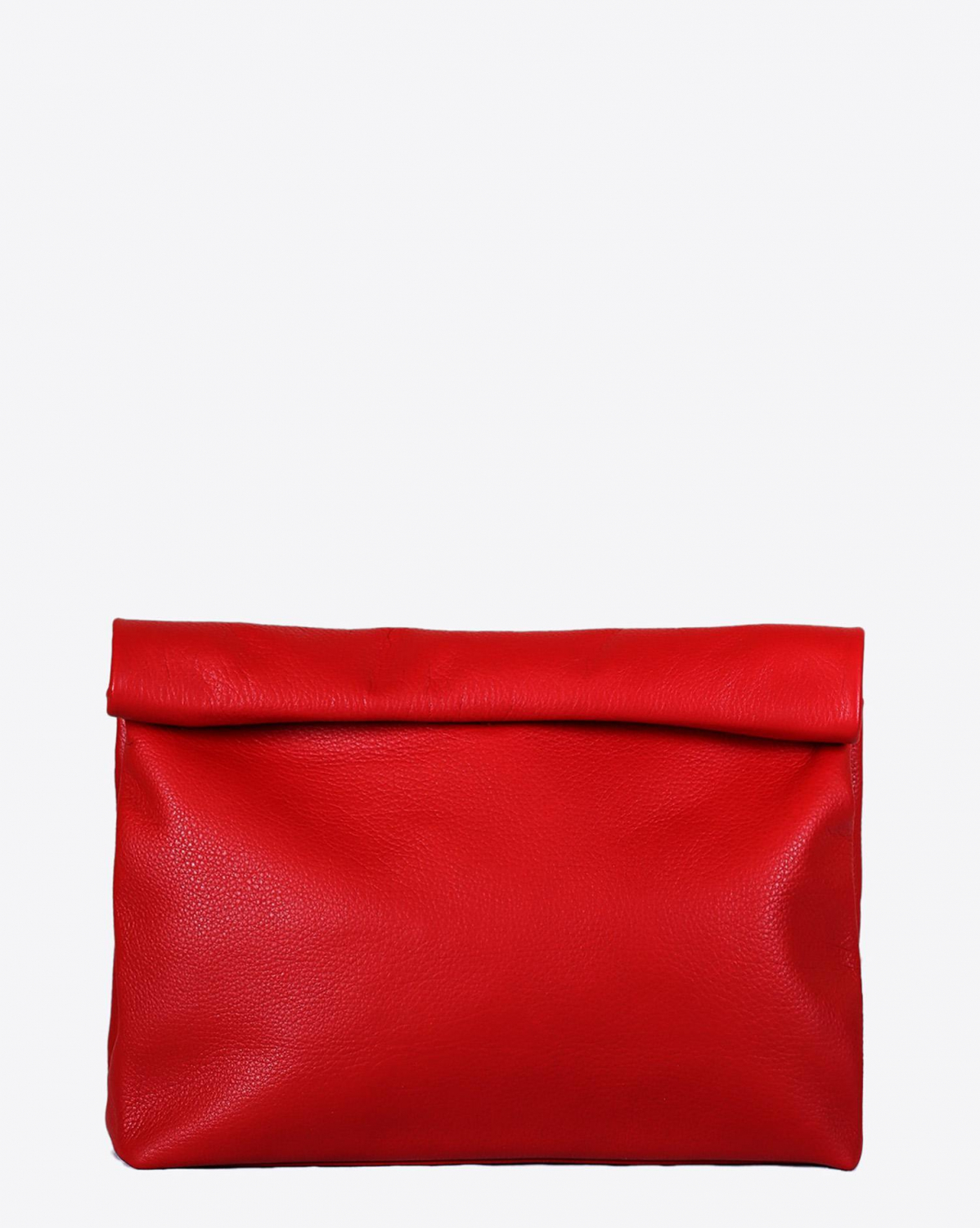 Marie Turnor Lunch Clutch -Pebble Red