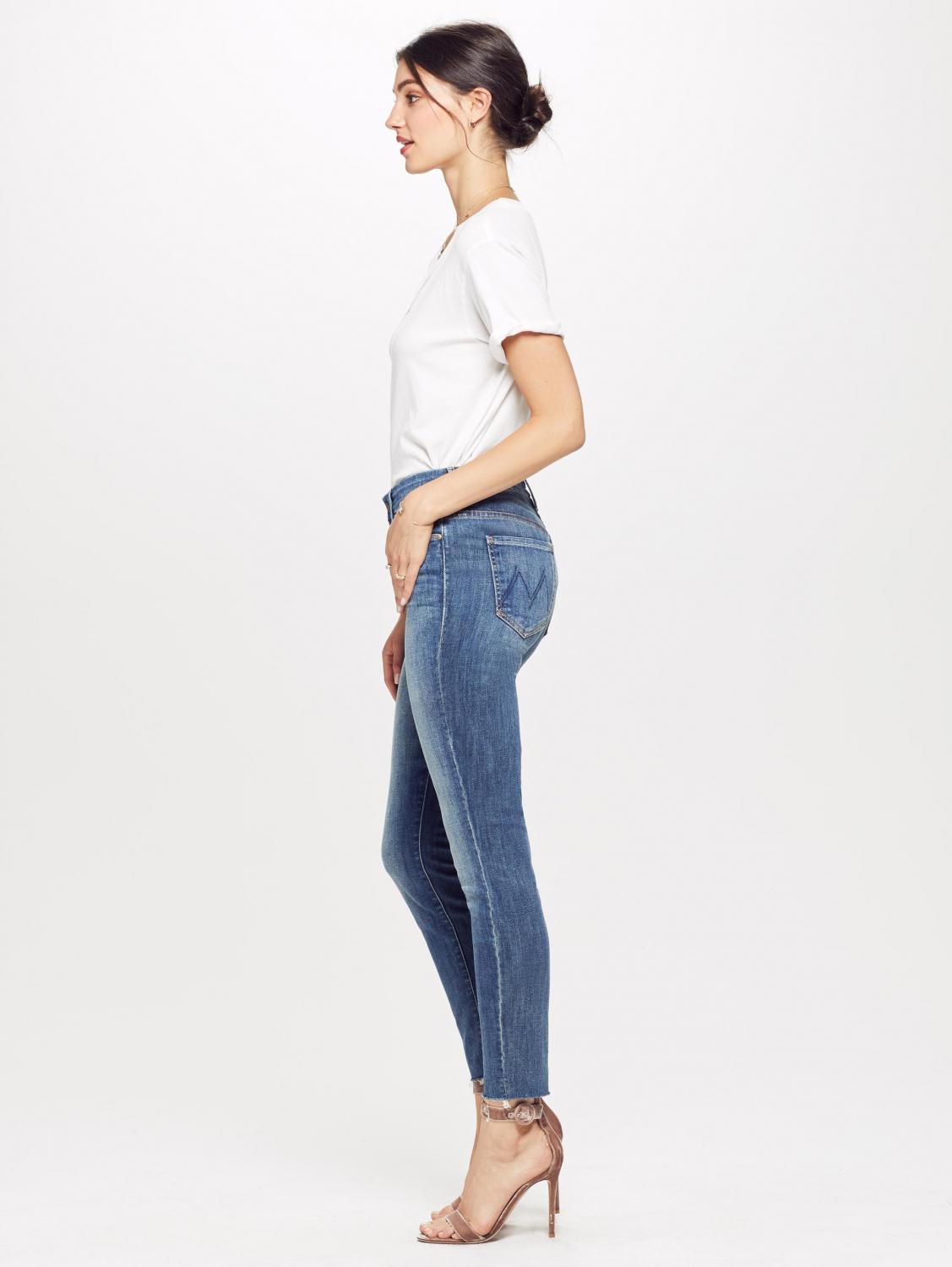 Mother Denim Pré-Collection High Waisted Looker Ankle Fray - Not Rough Enough