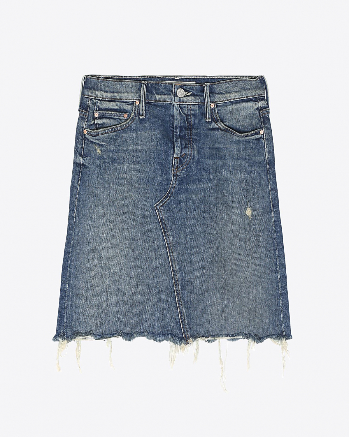Mother Denim The Tomcat Mini Skirt Fray - Playing Dirty