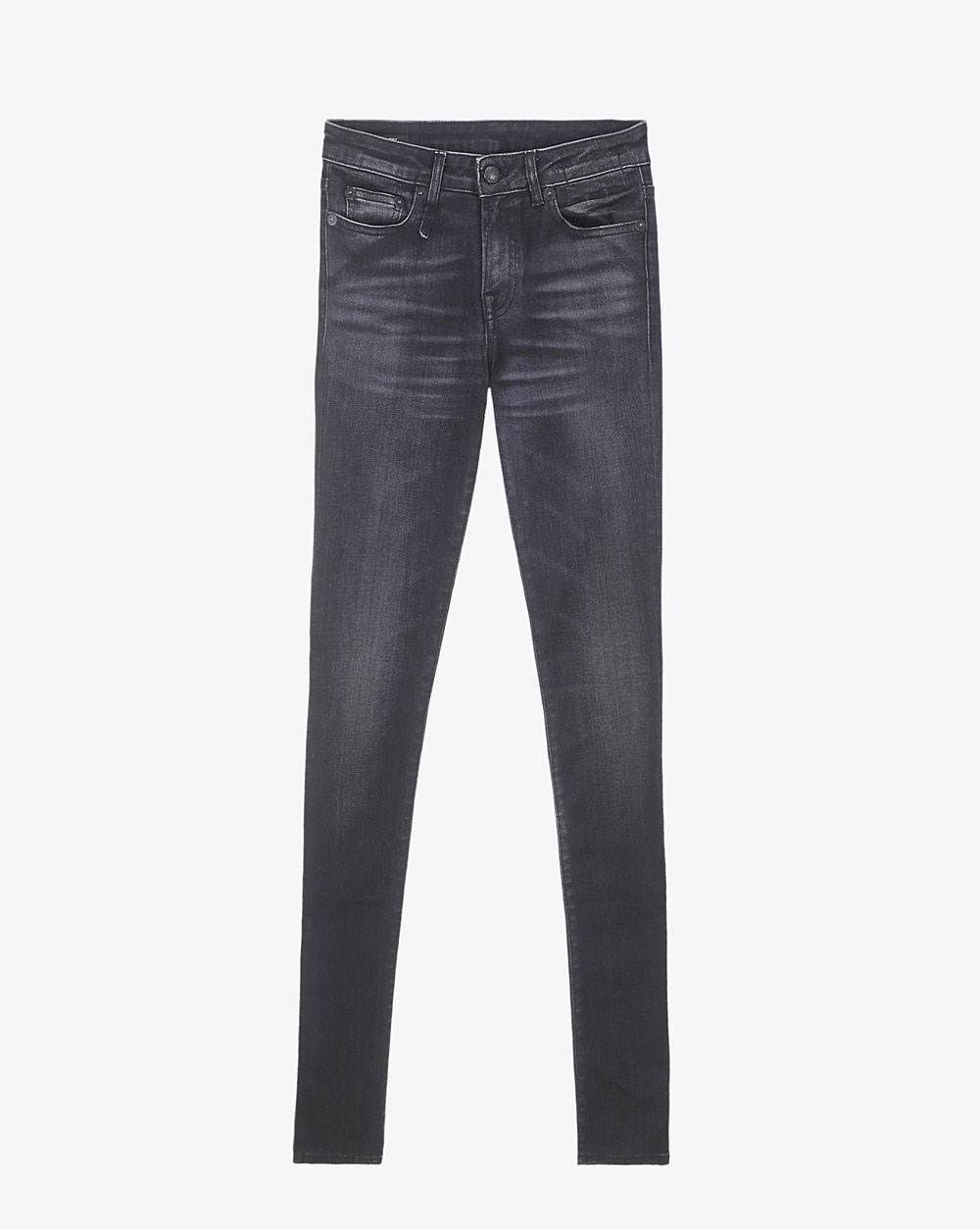 R13 Denim Collection Alison Skinny - Dirty Black