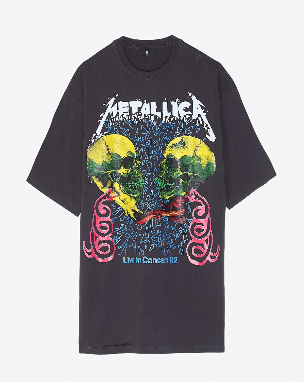R13 Denim Collection Concert 92 Oversized T -  Black