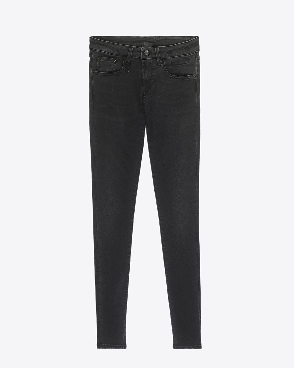 R13 Denim Collection Kate Skinny - Black Country