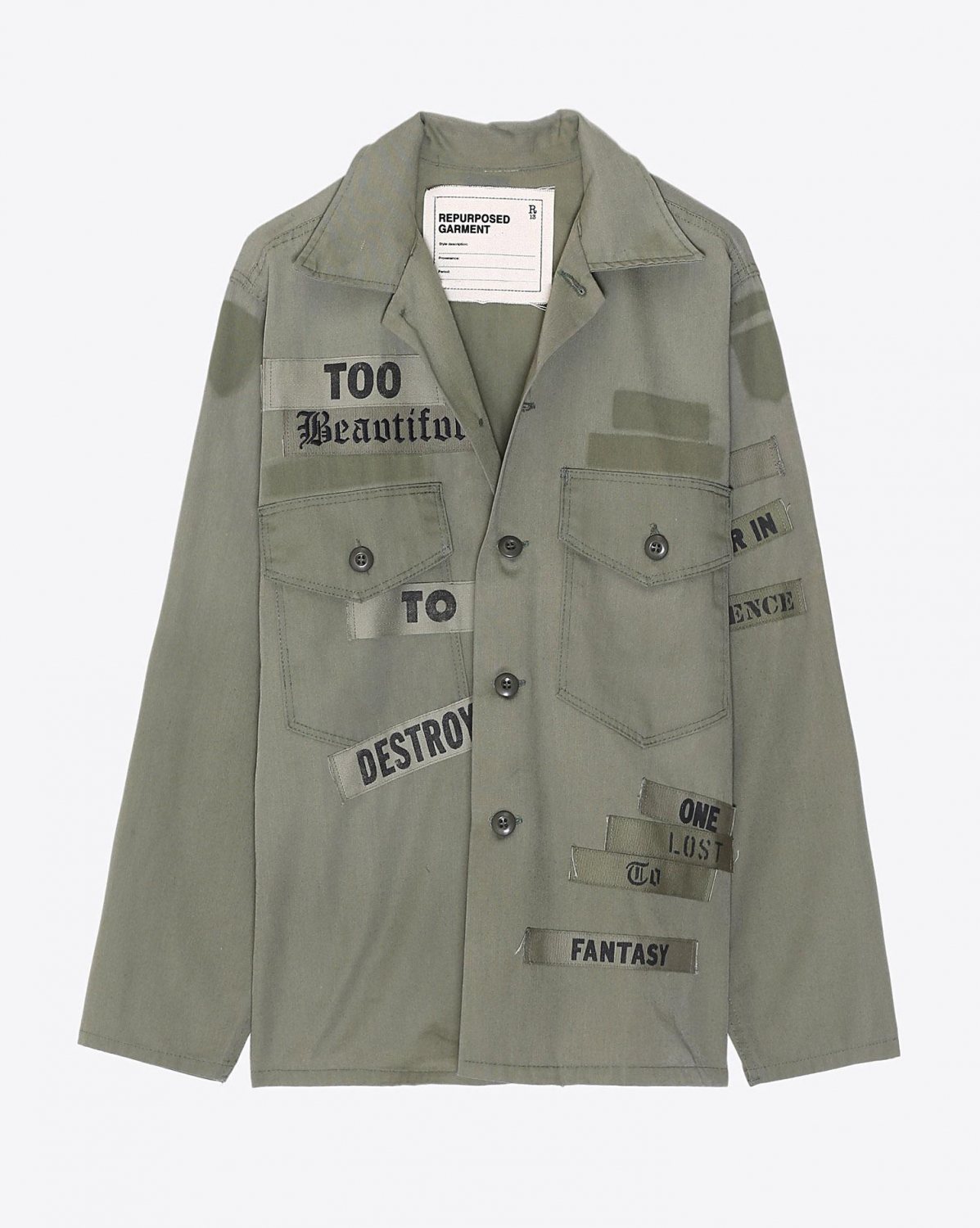R13 Denim Collection Repurposed Surplus Lyric Shirt - Olive