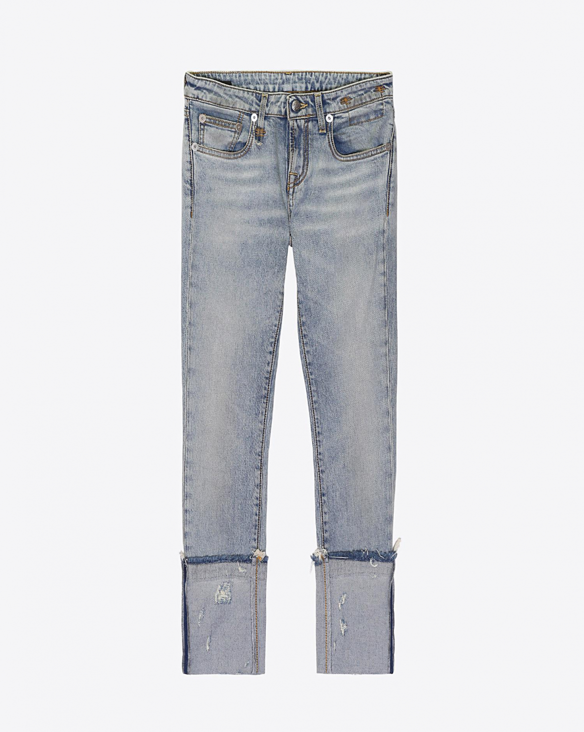 R13 Denim Pré-Collection Kate Skinny - Leyton Stretch W Frayed Cuff
