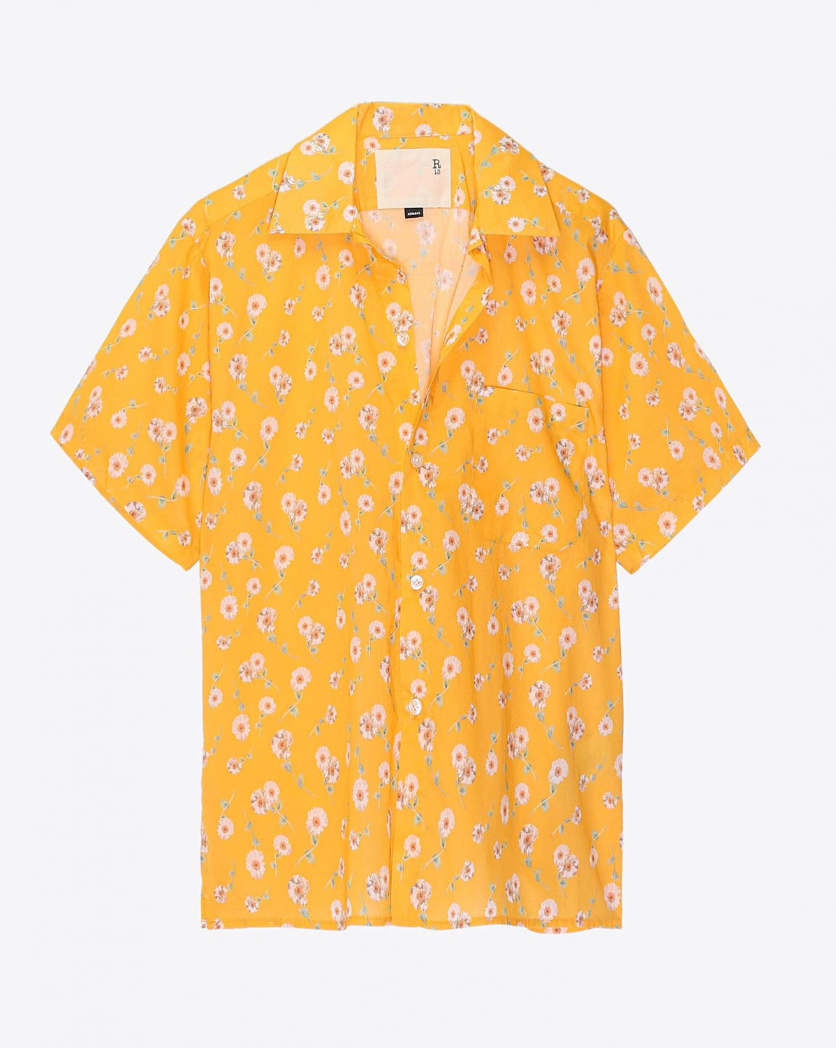 R13 Denim Pré-Collection Skater Shirt - Yellow Daisy