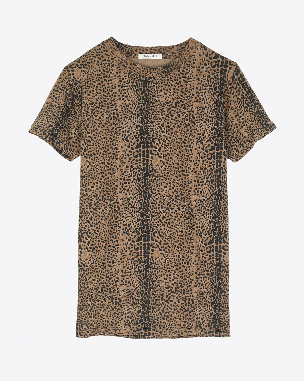 Ragdoll LA Easy Vintage Tee - Dark Brown Mini Leopard