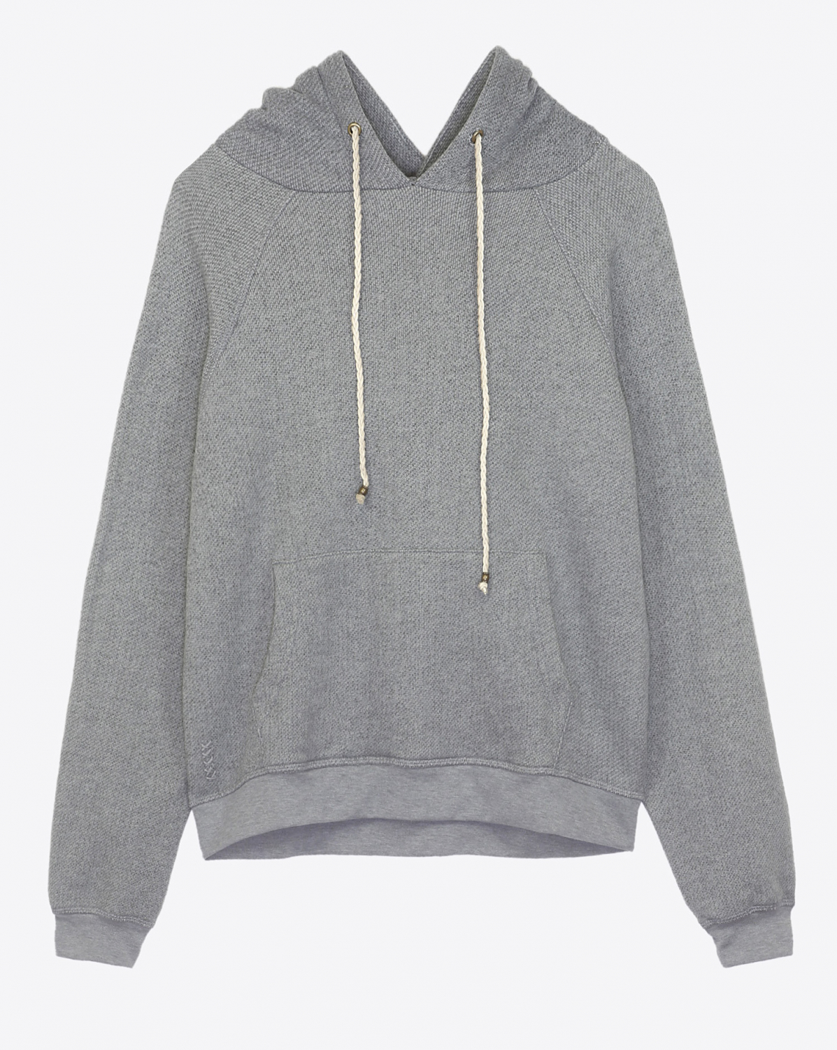 Ragdoll LA Oversized Pull On Hoodie - Grey Melange