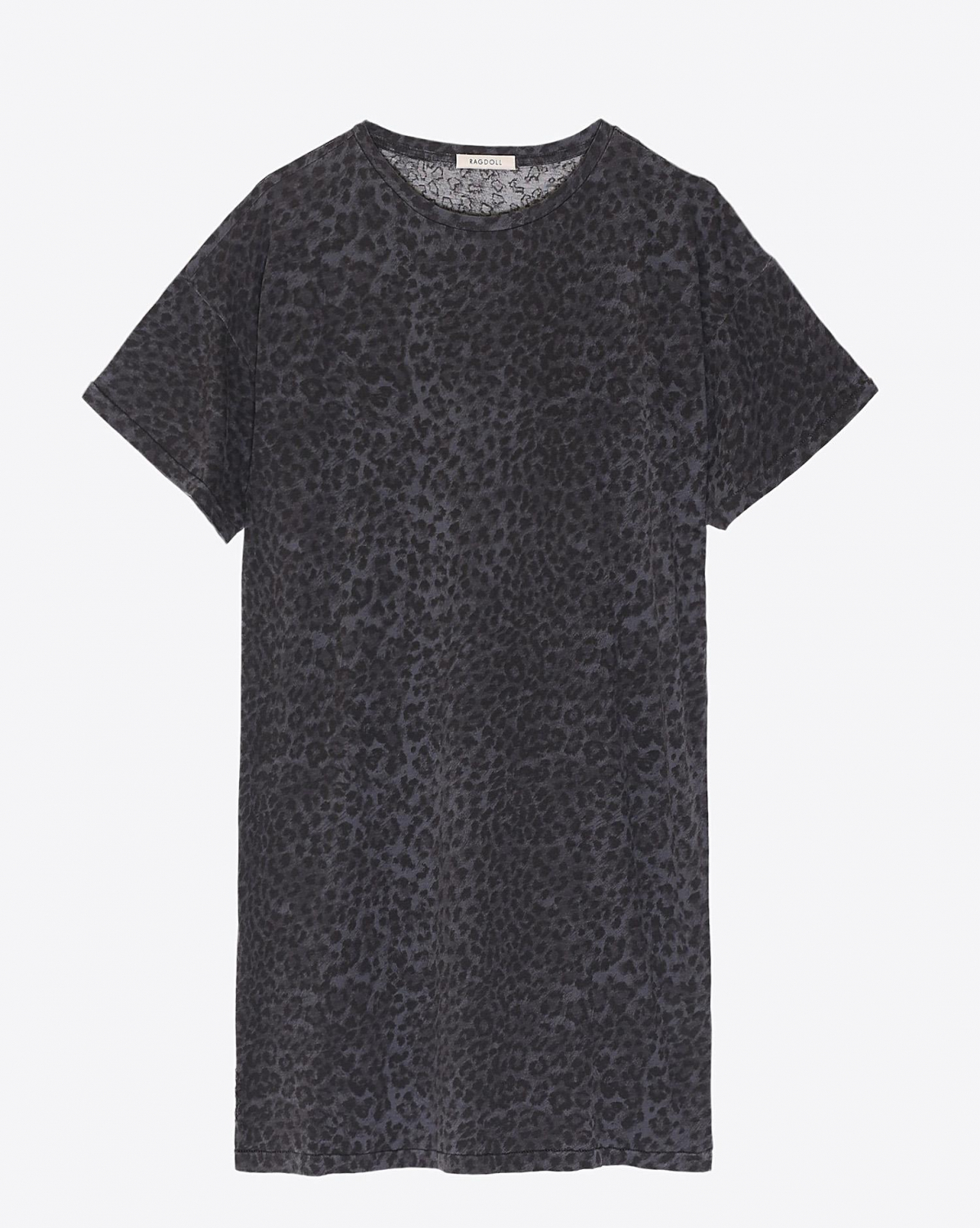 Ragdoll LA Tee Shirt Dress Grey Leopard