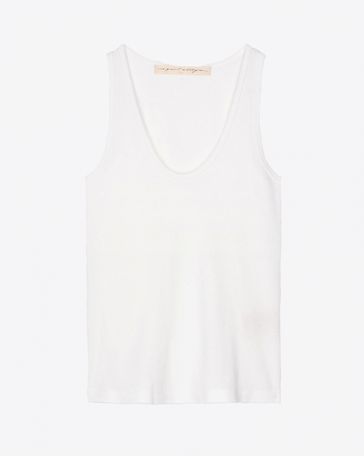 Raquel Allegra New Perfect Tank - Washed White