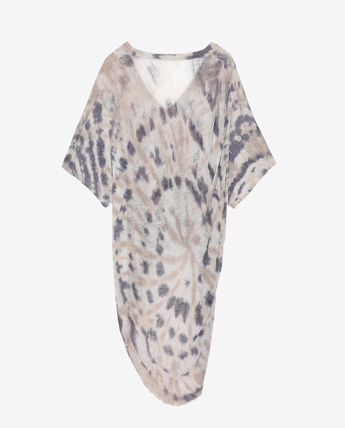 Raquel Allegra Pré-Collection Cocoon V Neck Tie & Dye - Sand Dollar