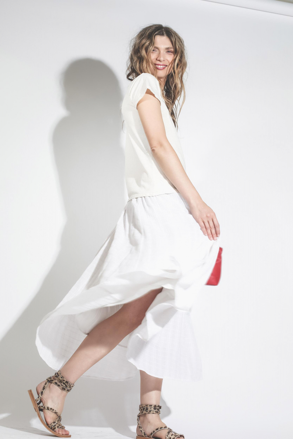 Raquel Allegra Pré-Collection Full Skirt - Dirty White