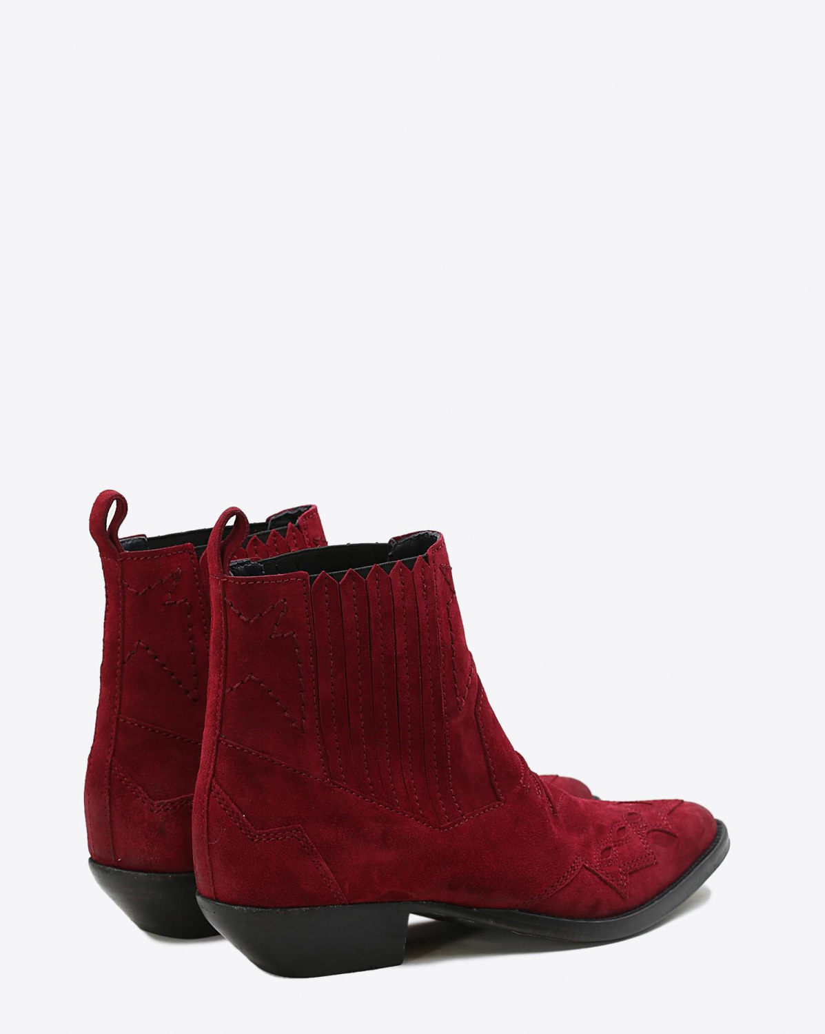 Roseanna Chaussures Boots Santiags TUCSON - Grenat