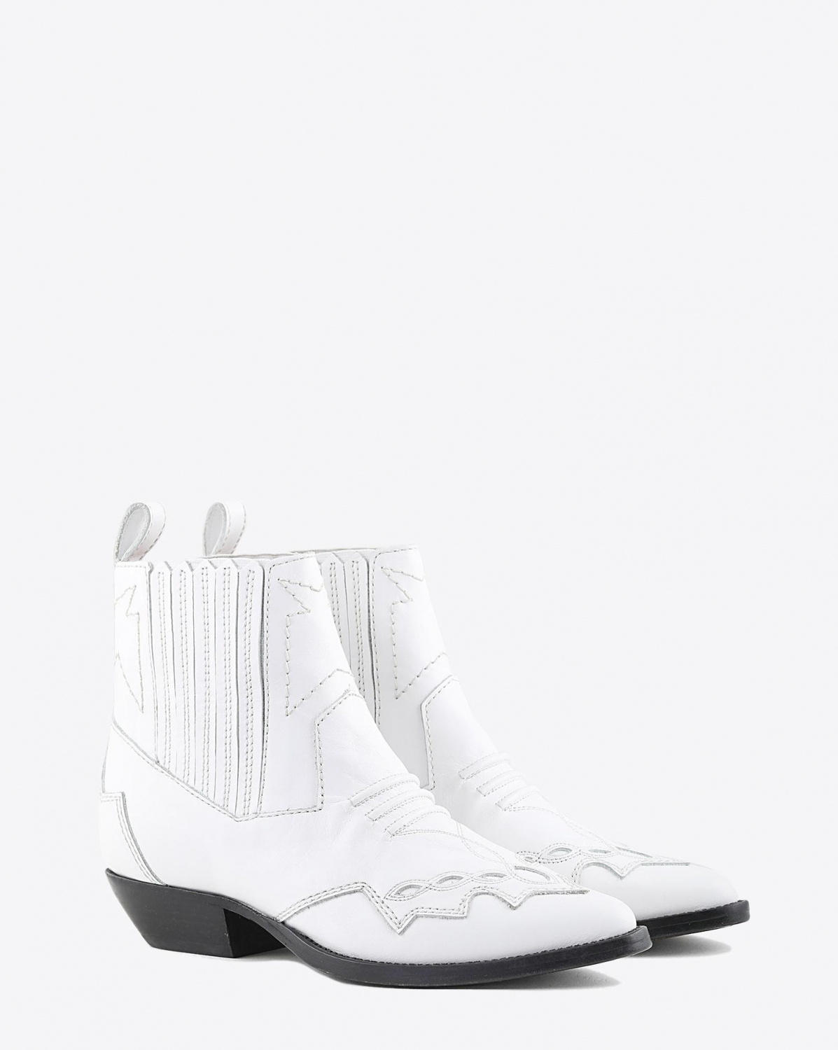 Roseanna Chaussures Boots Santiags TUCSON - White