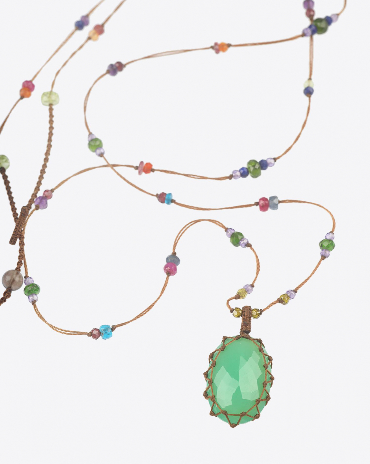 Sharing Collier Long TIBETAN - Chrysoprase