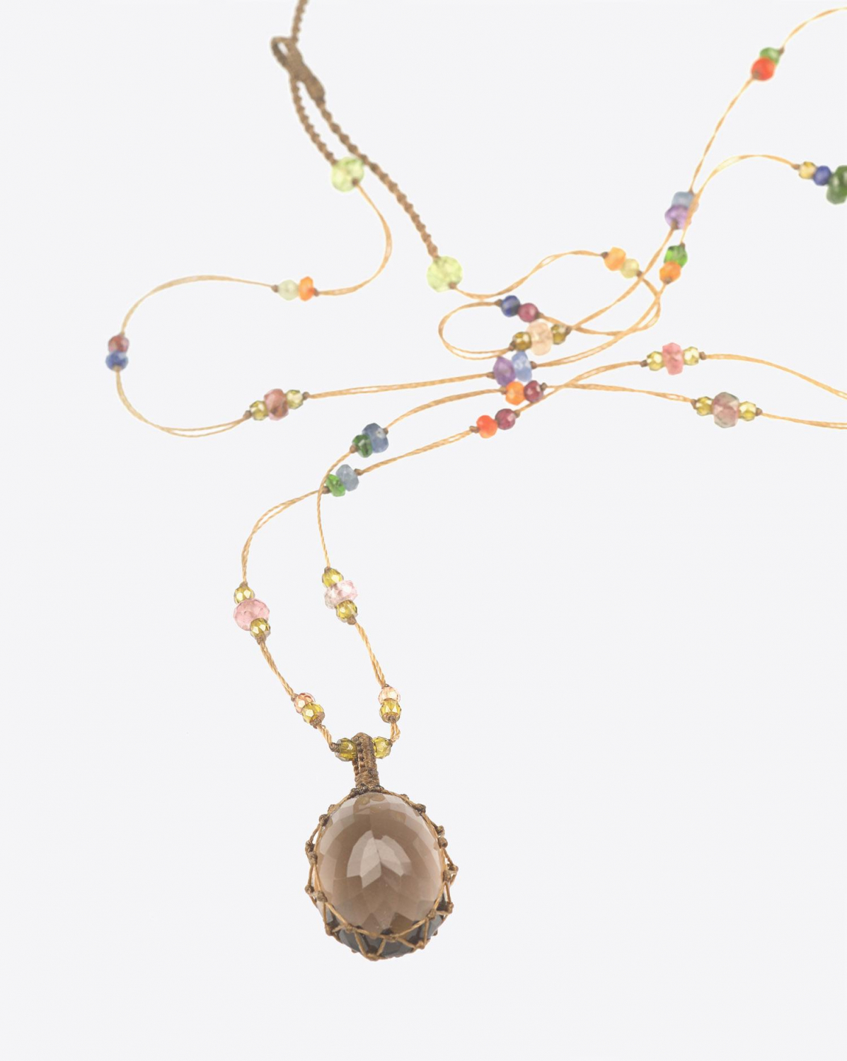 Sharing Collier Long TIBETAN - Smokey Quartz