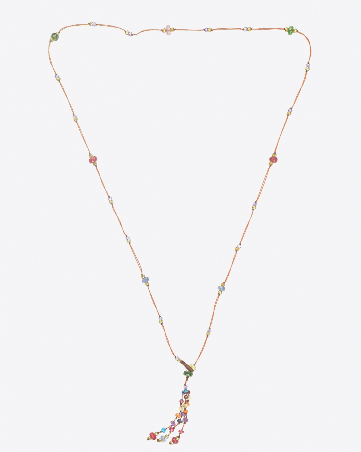 Sharing Collier pampille HOLY SPARKLY SHORT - Cordon Tabac