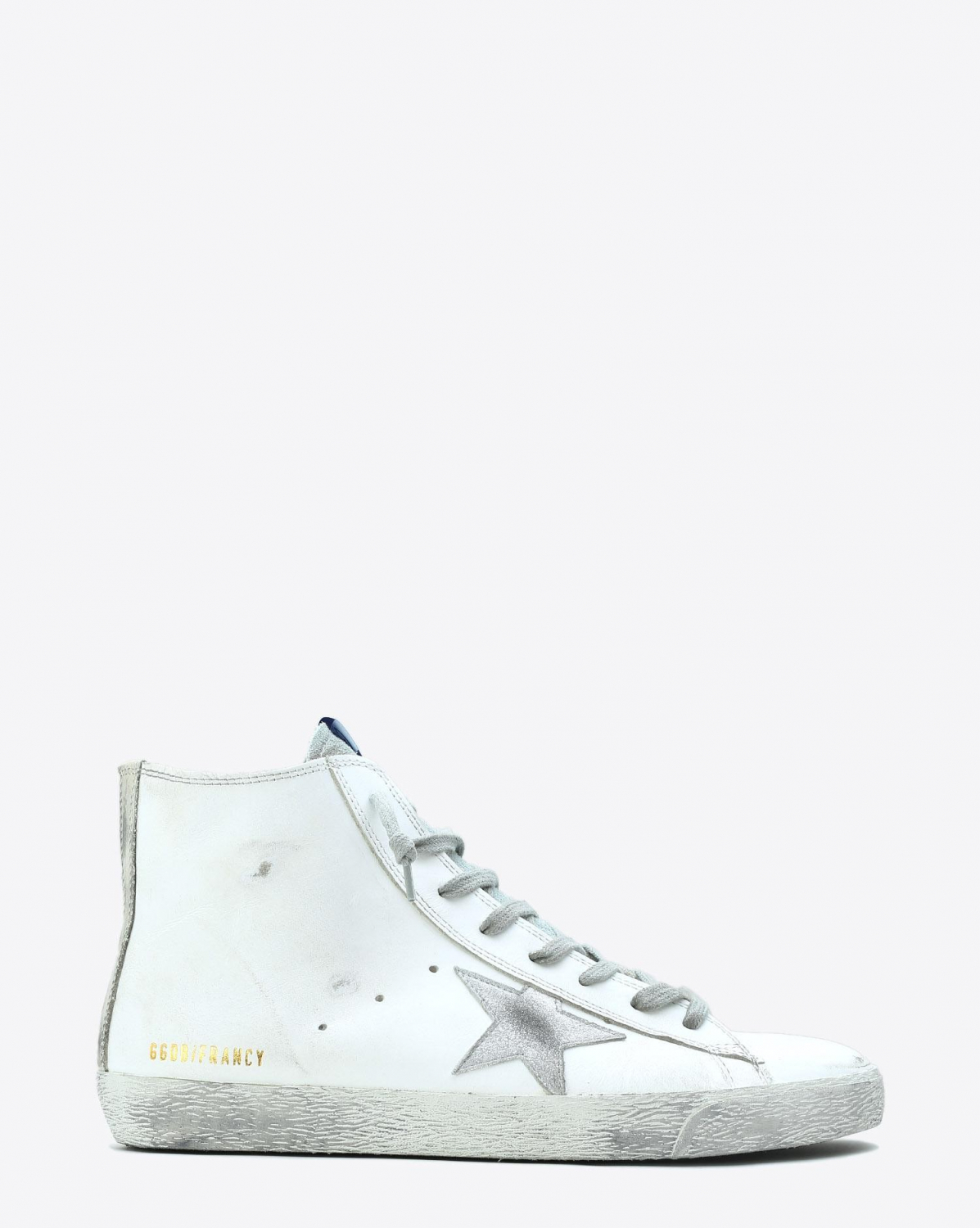 Golden Goose Men Sneakers Francy - White Silver Leather