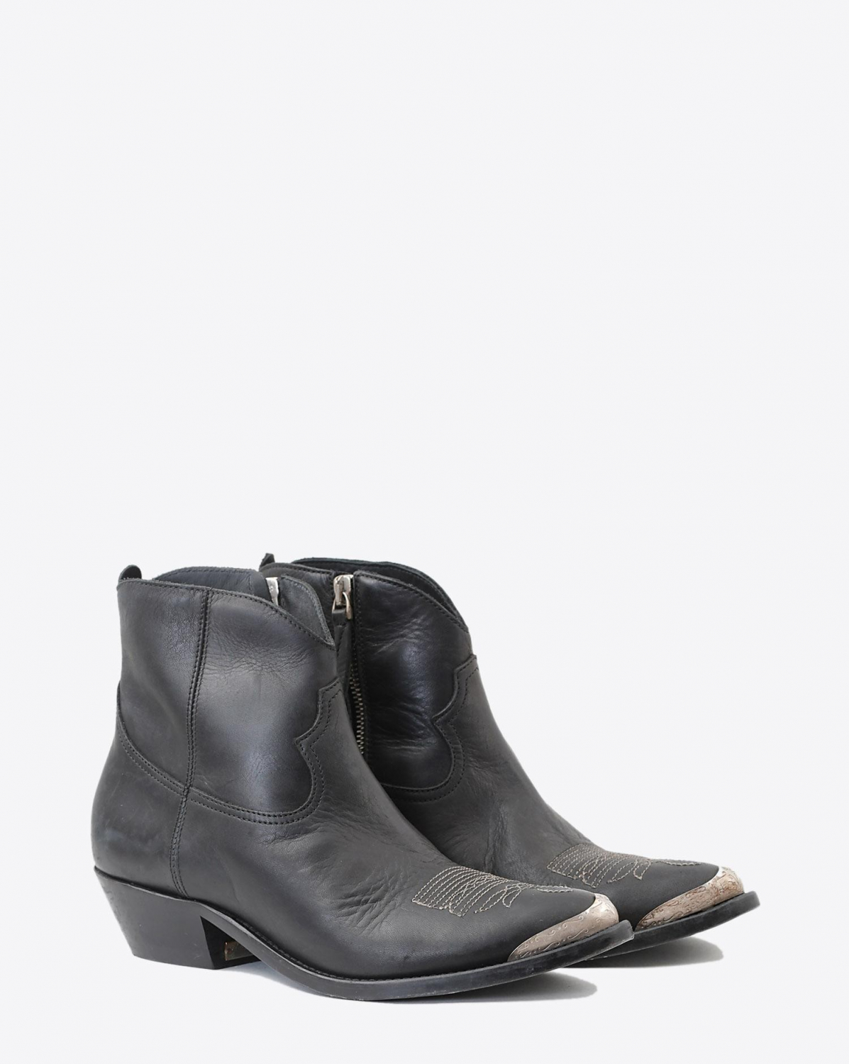 Golden Goose Woman Chaussures Pré-Collection Boots Young Black Leather