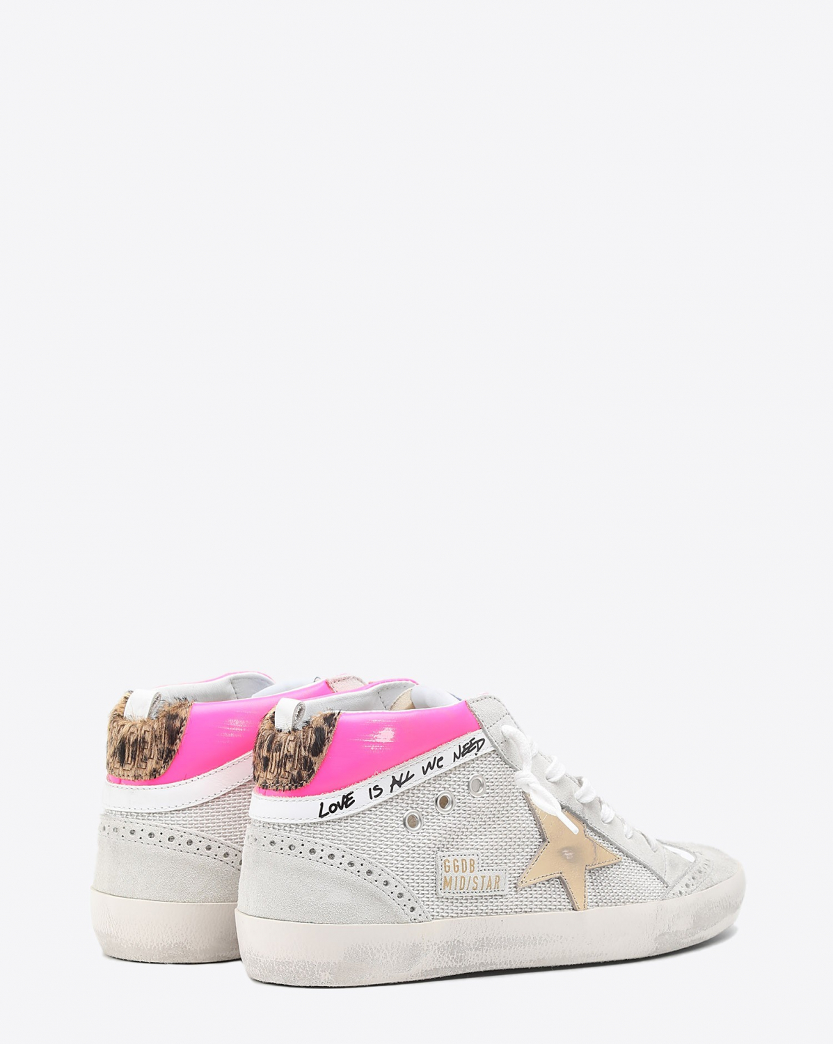 Golden Goose Woman Collection Mid Star - Fuchsia Gold Beige Brown 80807