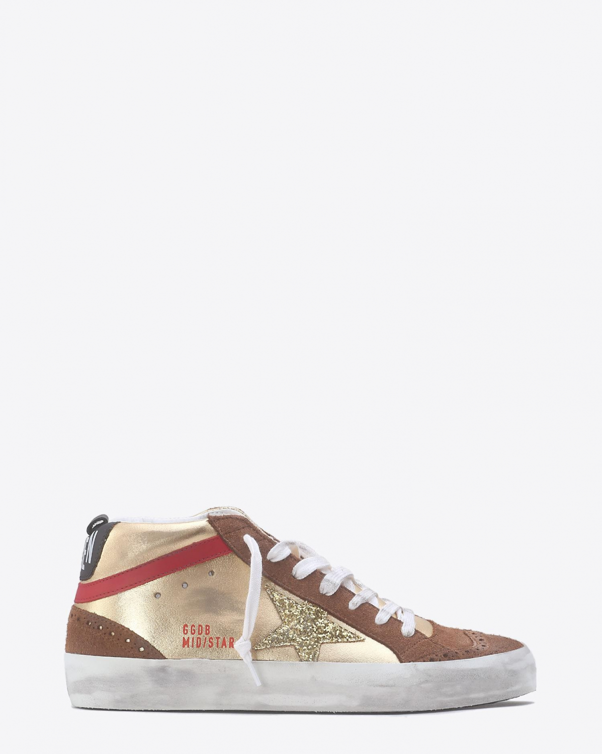 Golden Goose Woman Collection Sneakers Mid Star - Gold Laminated / Gold Glitter Star