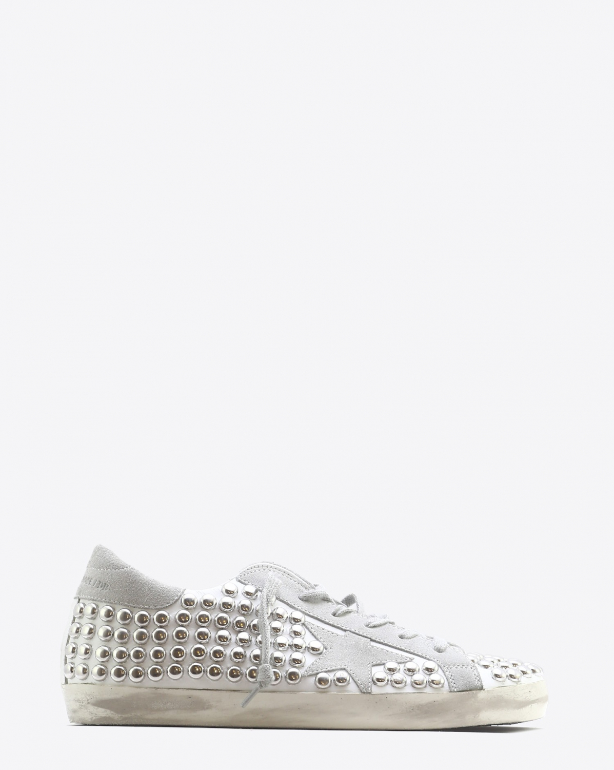 Golden Goose Woman Permanent Sneakers Superstar - Old White Studs