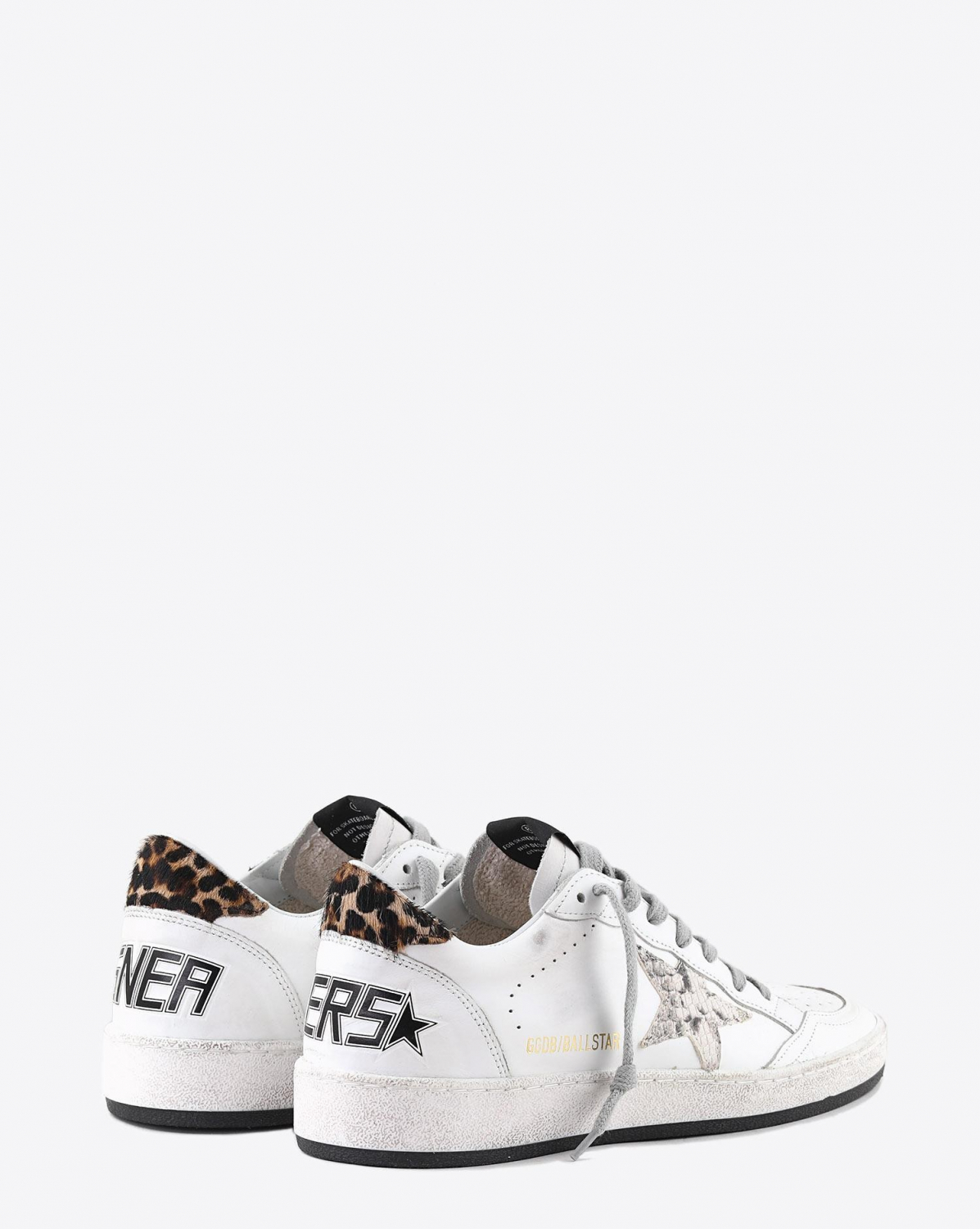 Golden Goose Woman Pré-Collection Sneakers Ball Star - White Leather - Pythone Rock Star