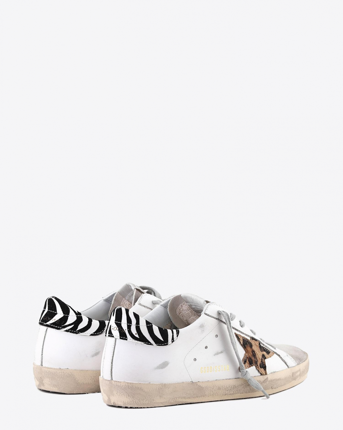 Golden Goose Woman Pré-Collection Sneakers Superstar - White Leather - Pony Leo Star - Zigger Details