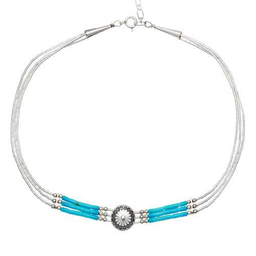 Harpo Permanent Collier Choker Conchas Pm Turquoise N336T