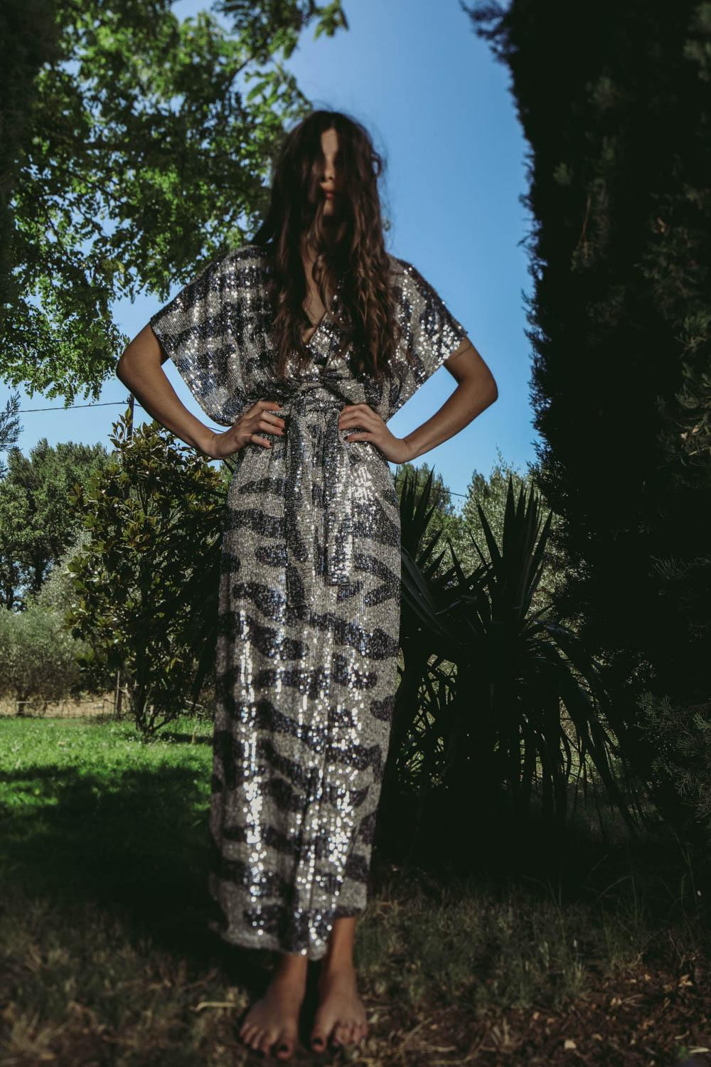 In The Mood For Love Pré-Collection Madalya Camo Dress - Silver/Antrasit