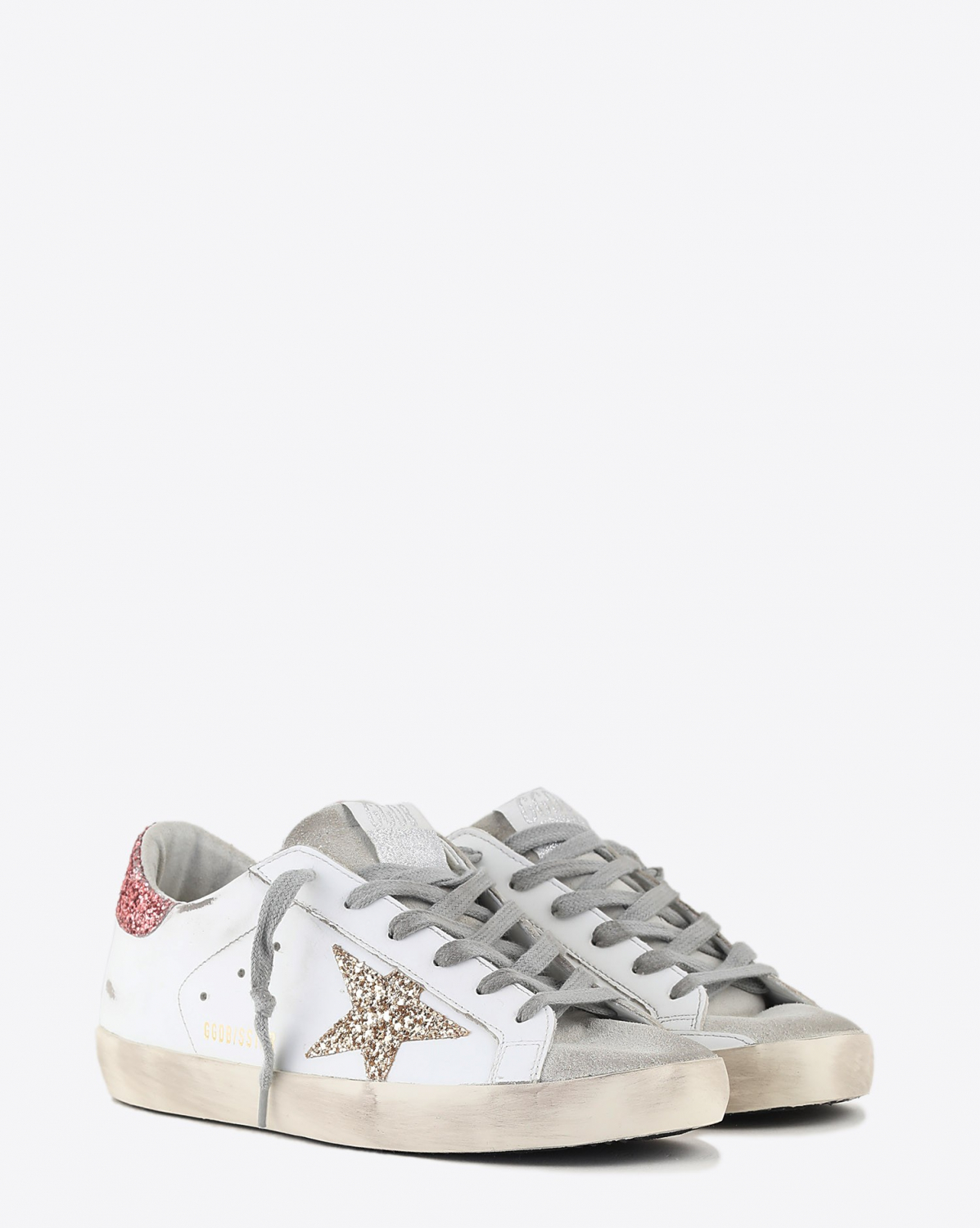 Golden Goose Woman Collection Super-Star - Gold Salmon Pink 80780