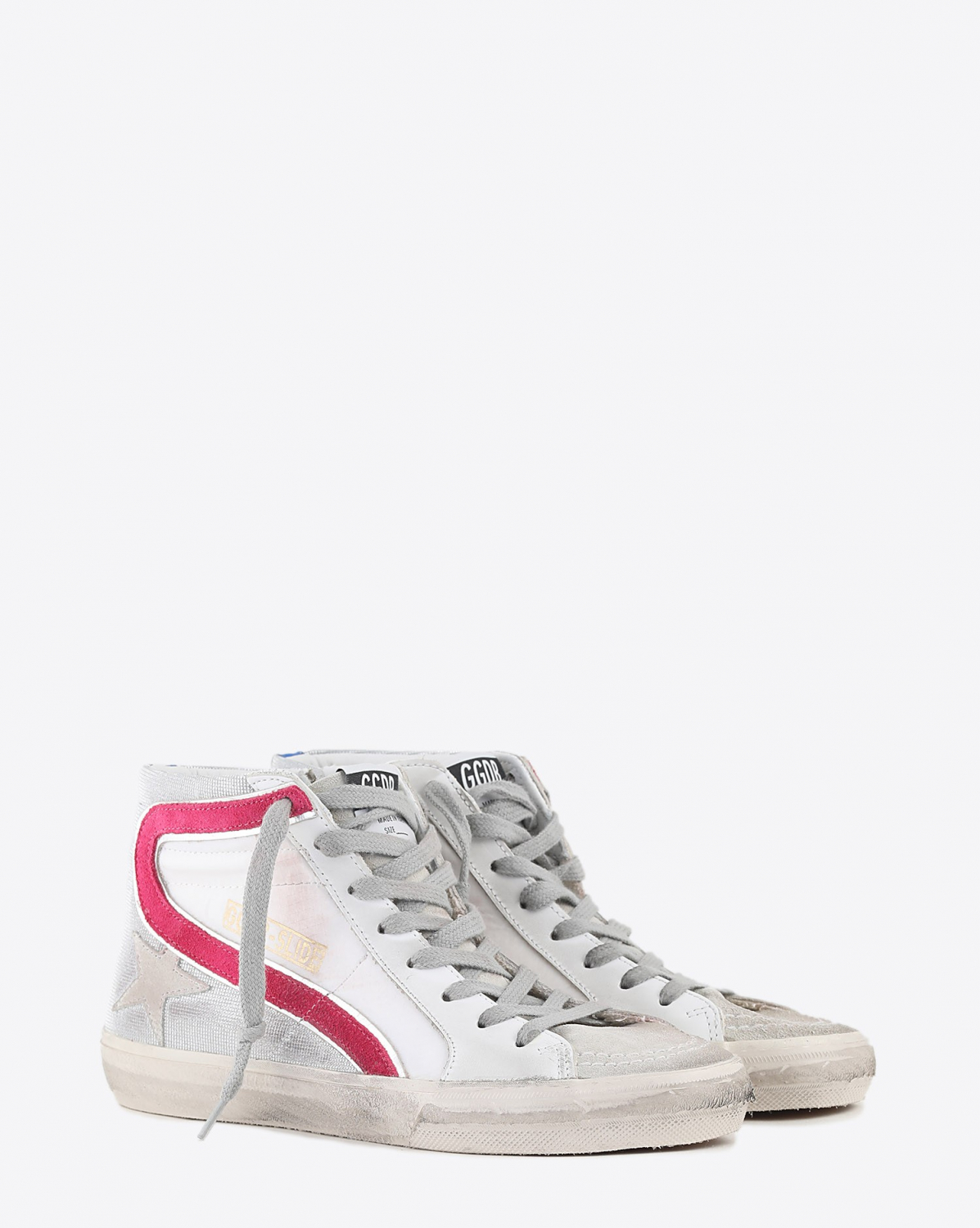 Golden Goose Woman Collection Slide - Silver Orchid Pink Bluette 80806