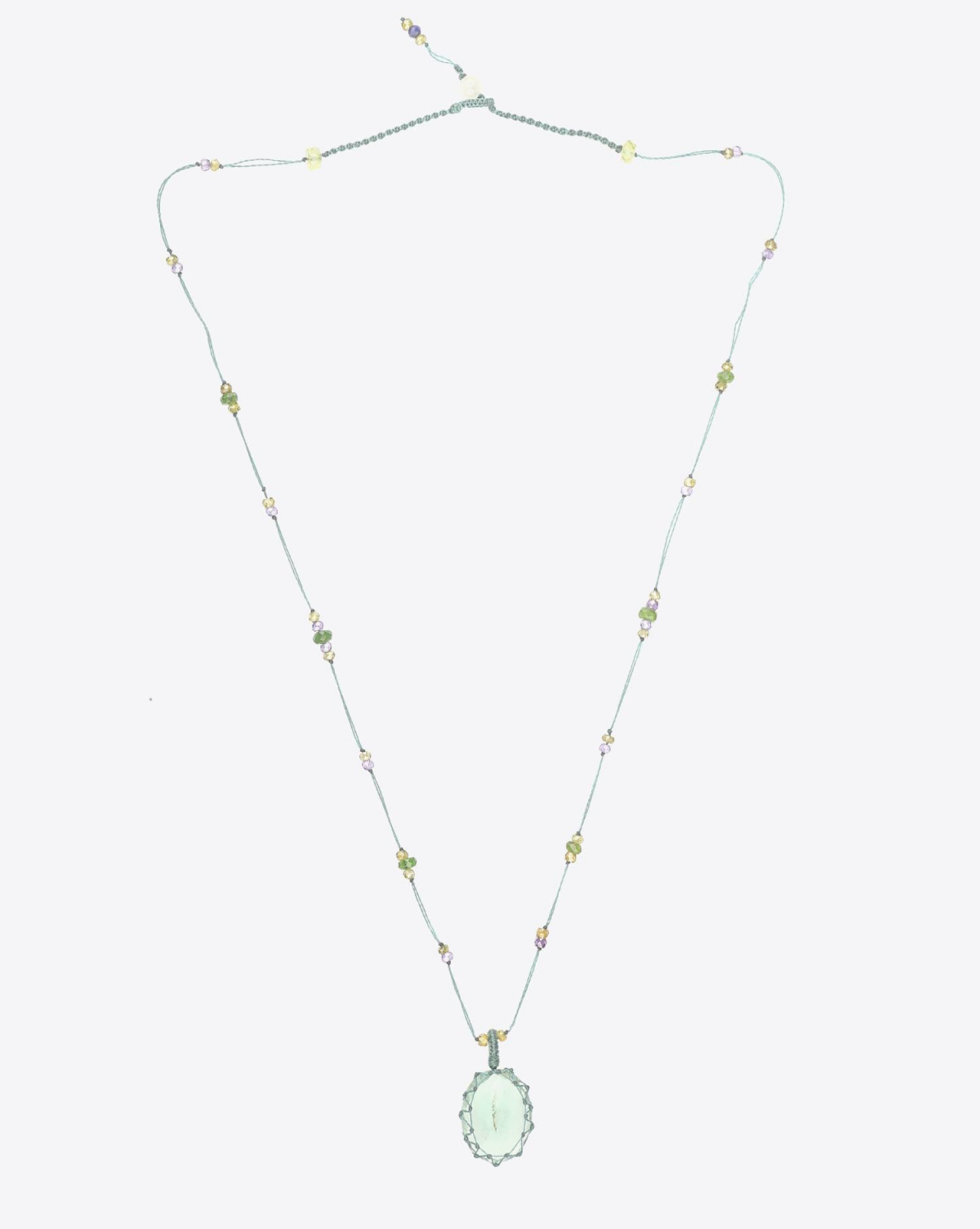 Sharing Collier Court TIBETAN - Green Fluorite