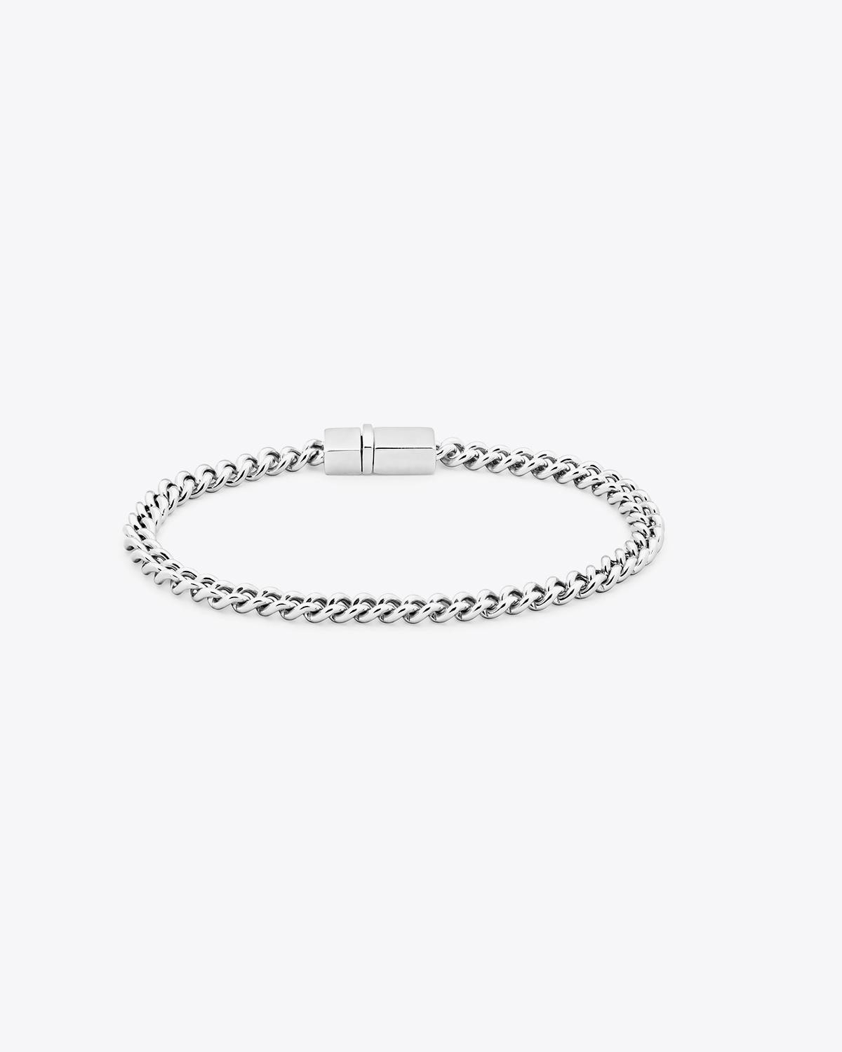 Tom Wood Rounded Curb Bracelet Thin - Silver