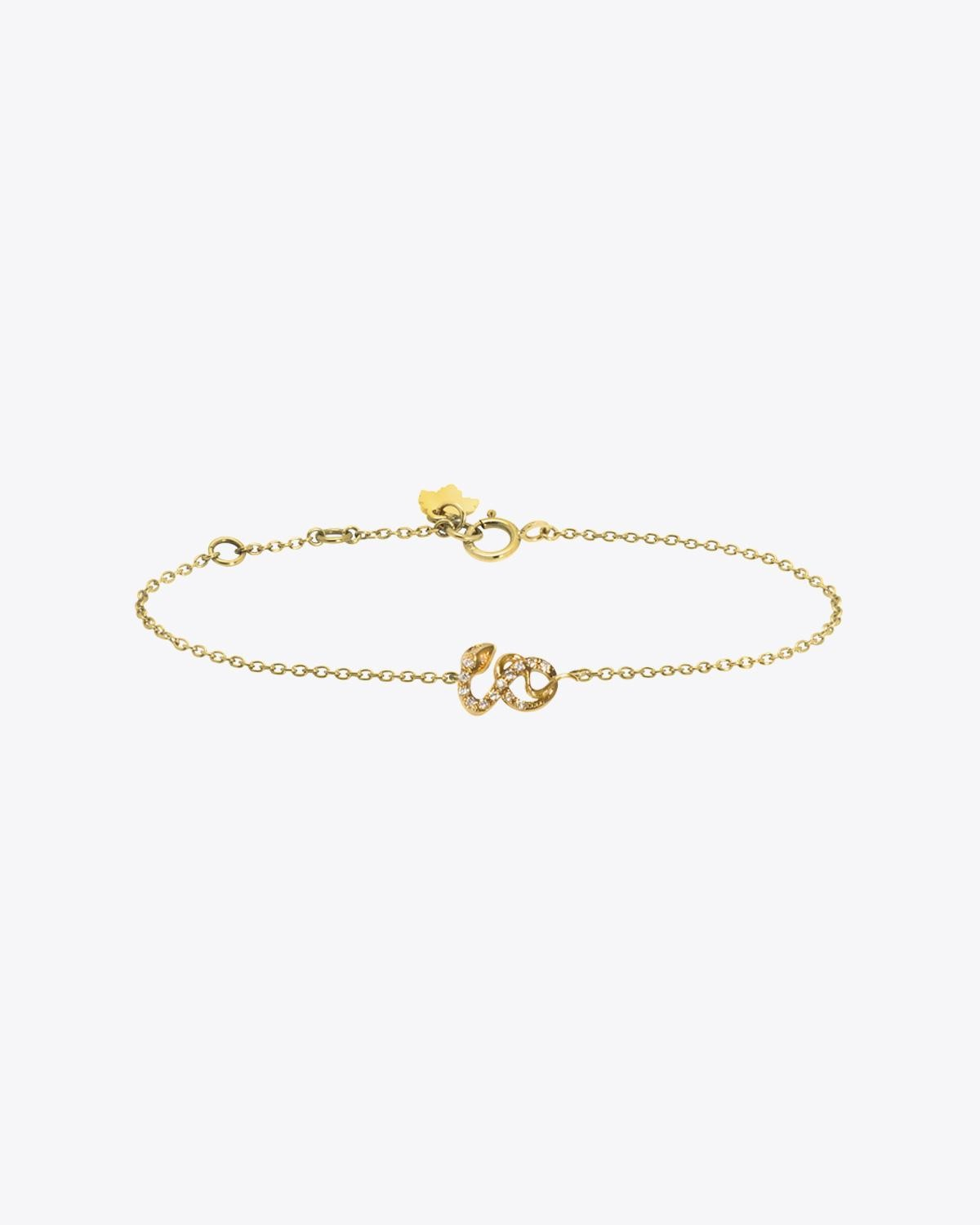 Feidt Bracelet Serpent - Or Jaune 18K et Diamants