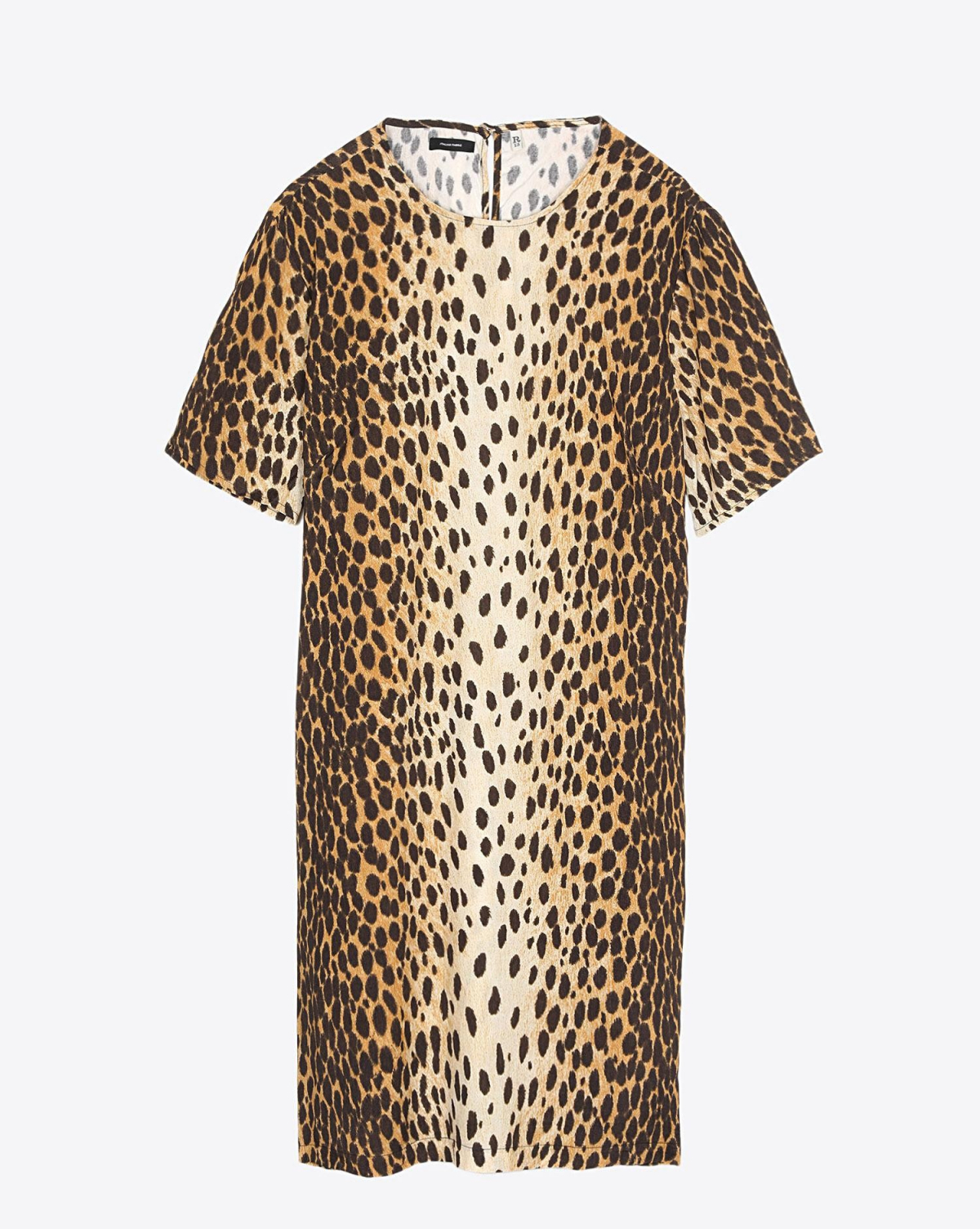 R13 Denim Pré-Collection Shift Dress - Cheetah