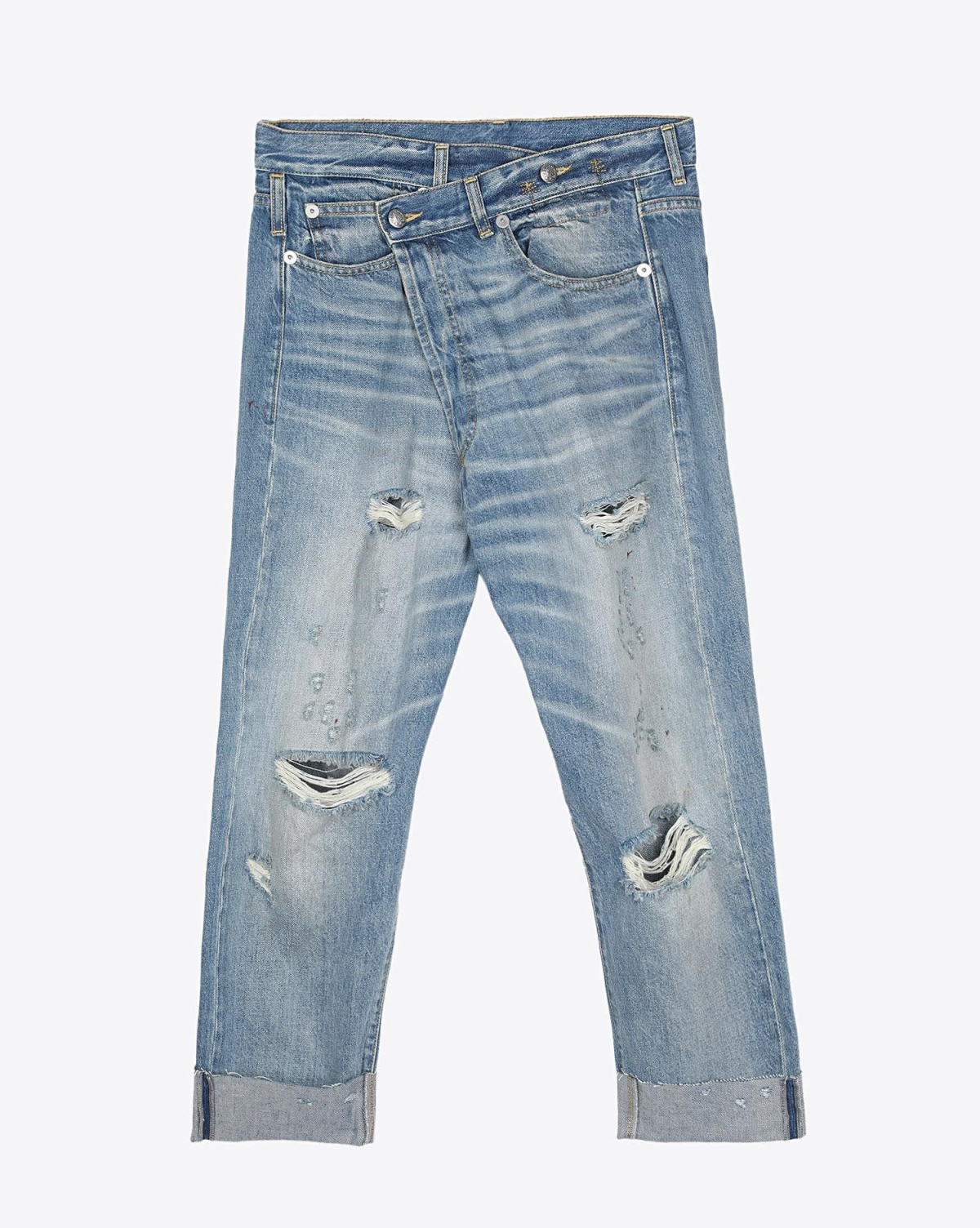 R13 Denim Permanent Crossover Jean - Emory