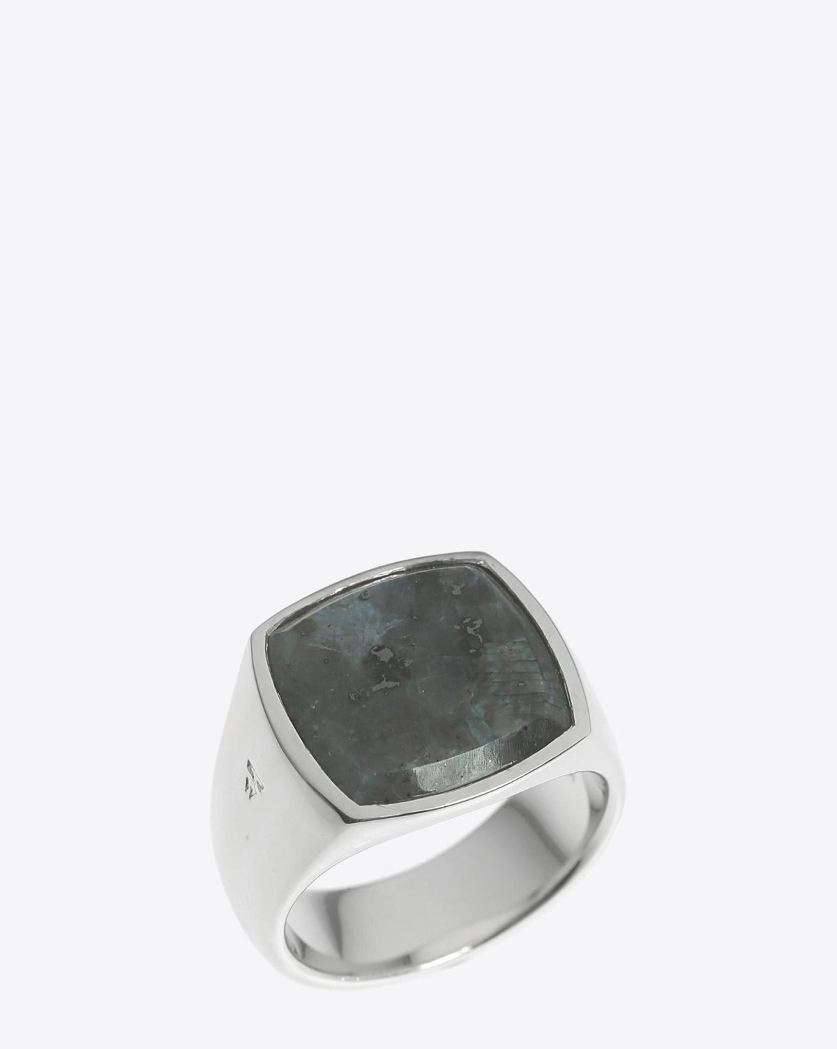 Tom Wood Cushion Larvikite Ring