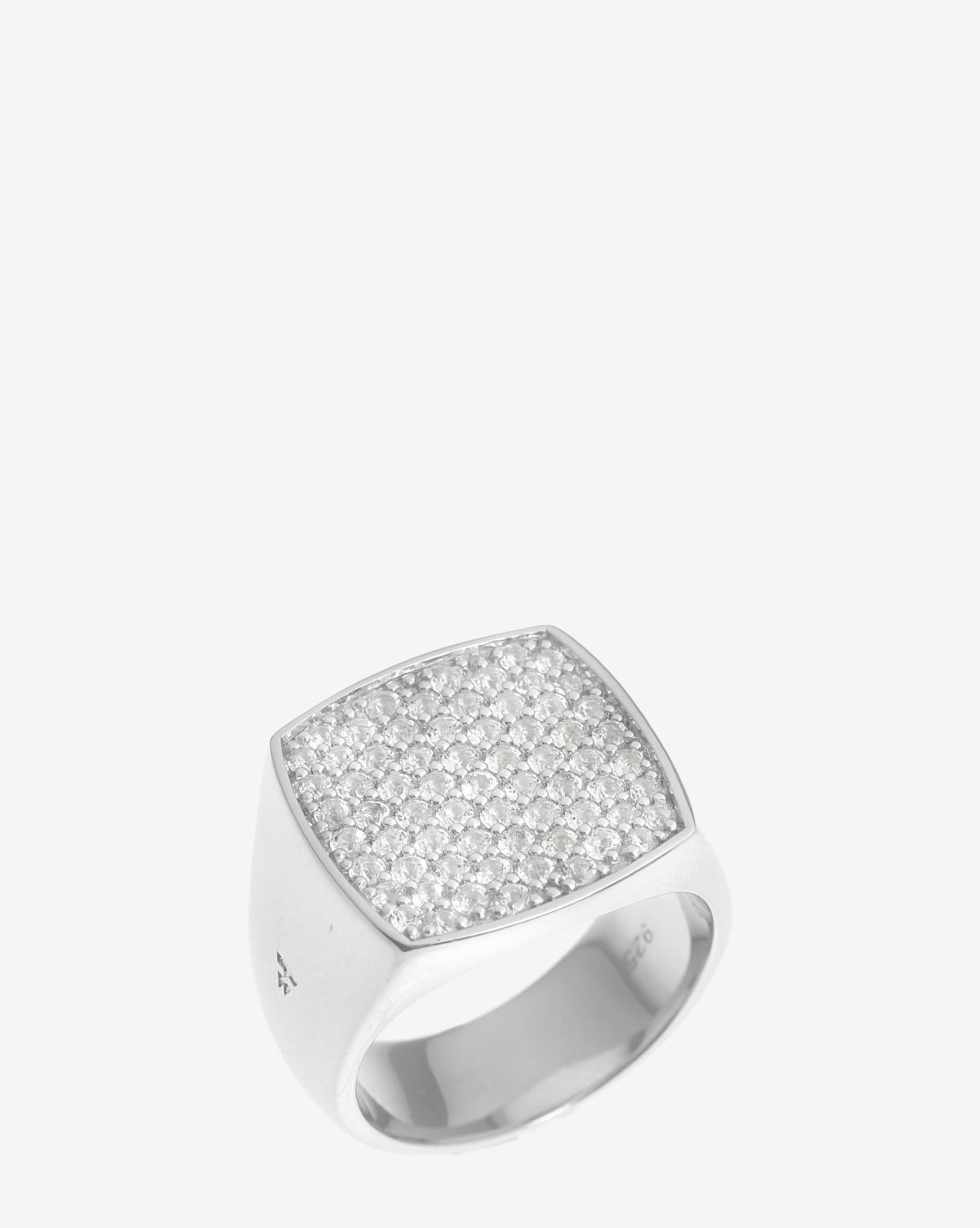 Tom Wood Pinkie Cushion White Topaz Ring