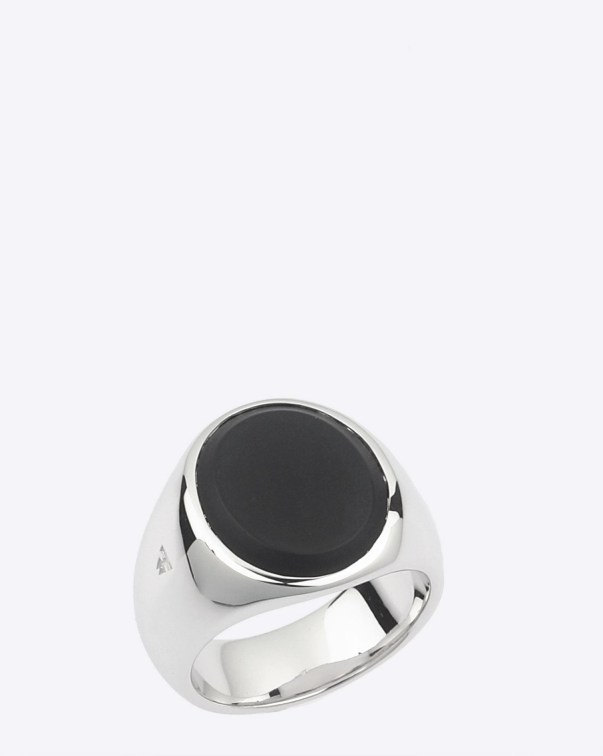 Tom Wood Oval Black Onyx - Silver