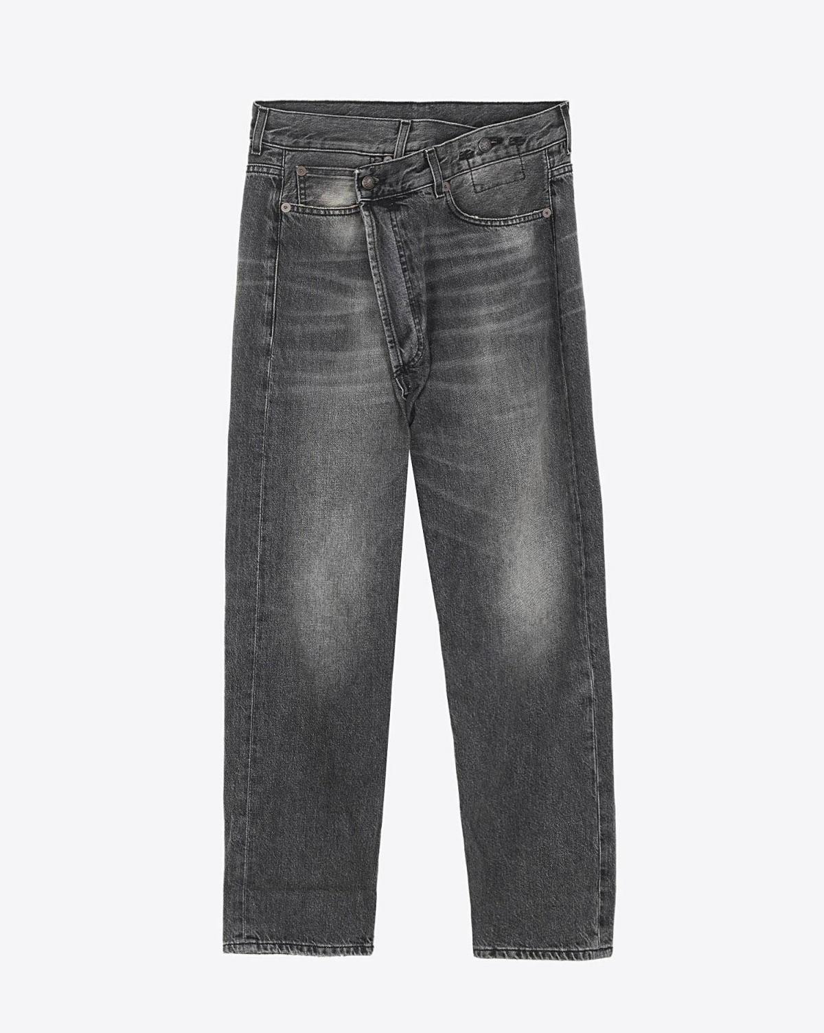 R13 Denim Permanent Crossover Jean - Leyton Black