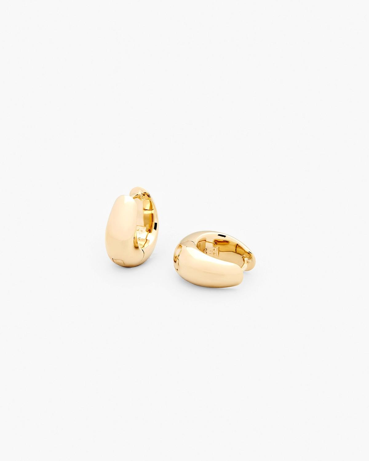Tom Wood Ice Hoops Small - Gold