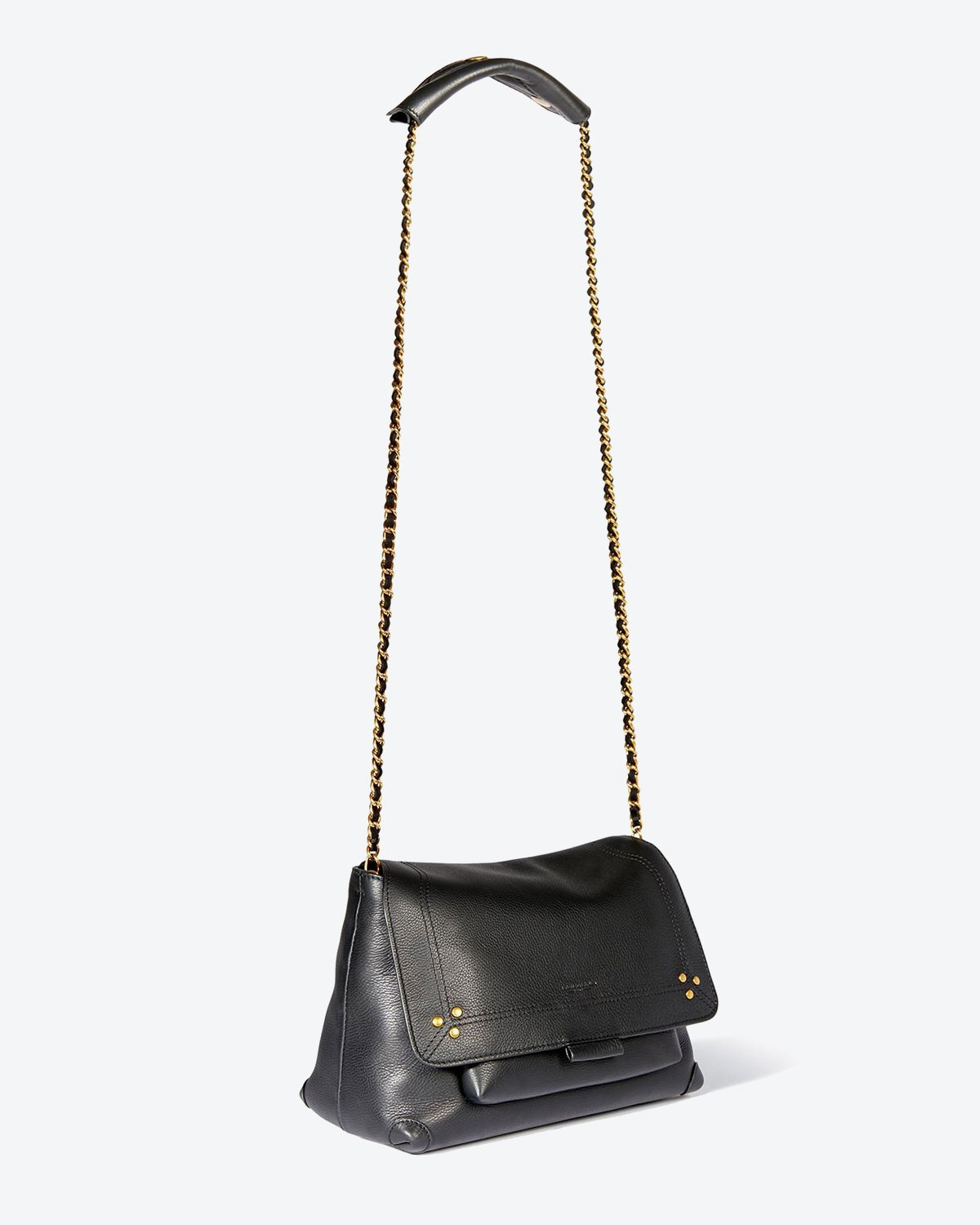 Jérôme Dreyfuss Pré-Collection Lulu M Calfskin Noir Brass