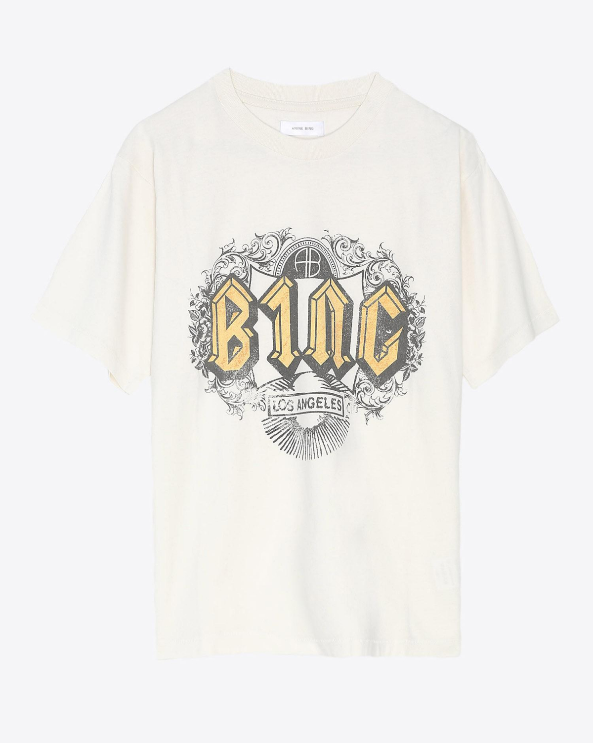 Anine Bing Ink Tee In White
