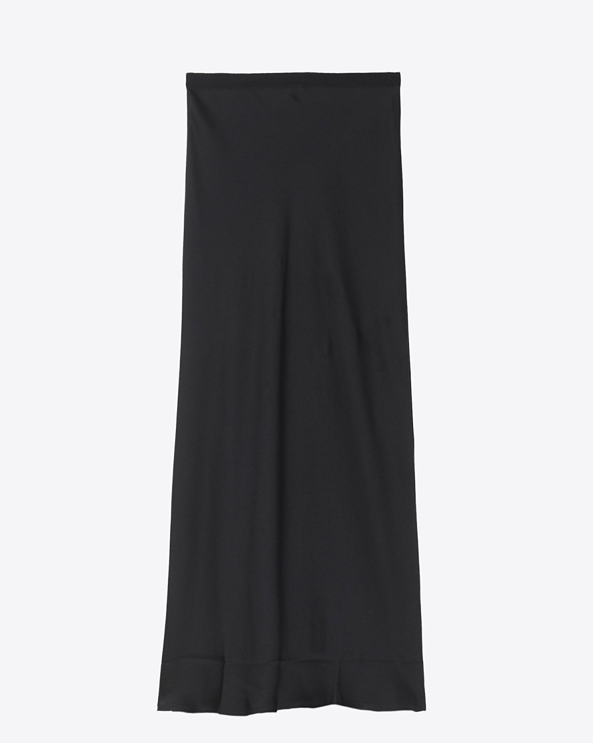 Anine Bing Permanent Bar Silk Skirt - Black