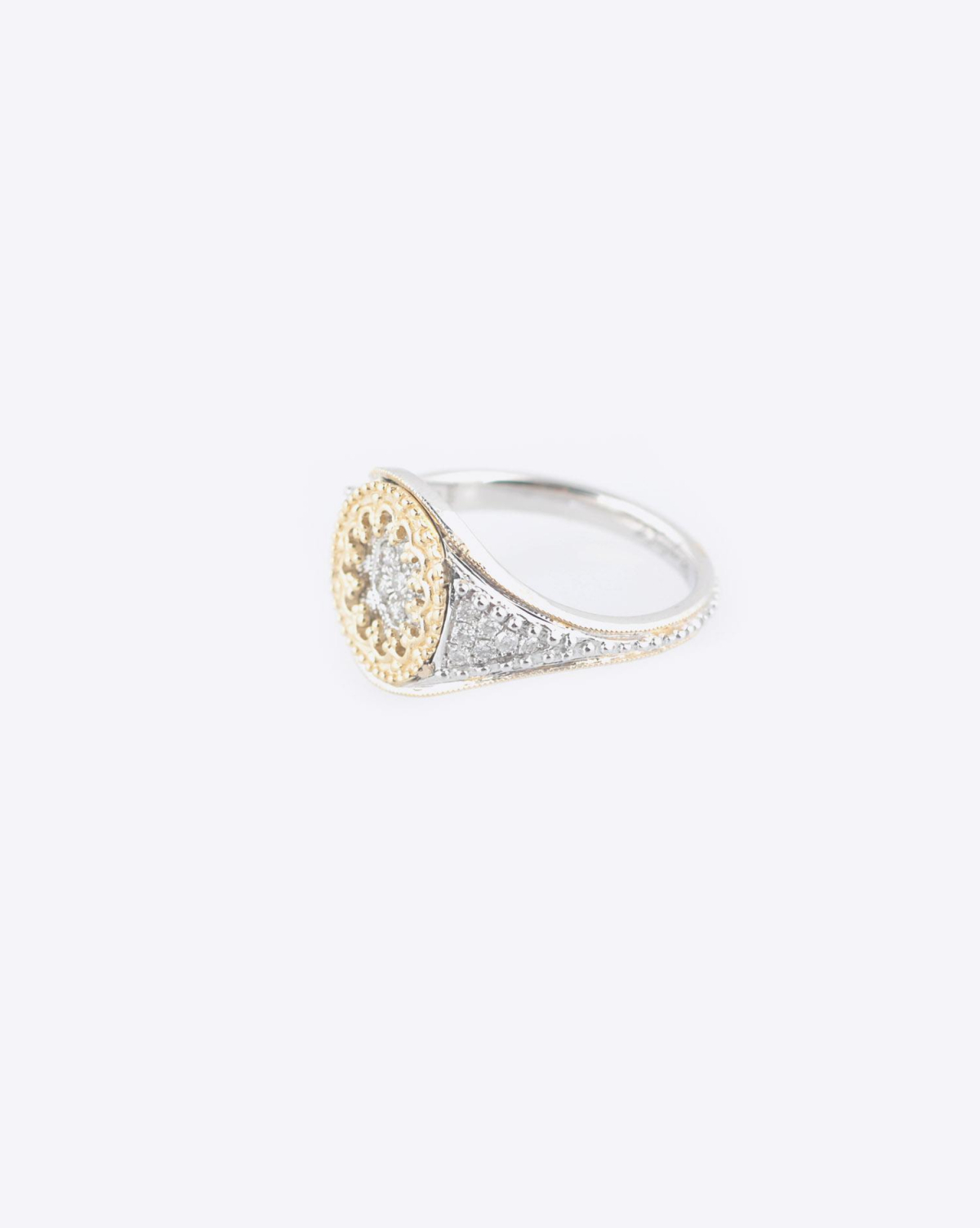 De Jaegher Ring Lovely - Or Jaune - Argent & Diamants Blancs