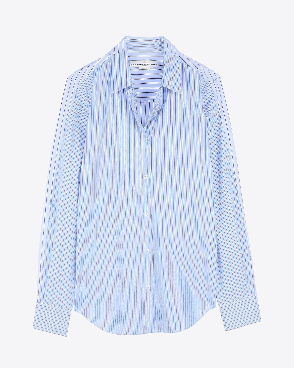 Golden Goose Vêtements Pré-Collection Shirt Golden - Light Blue Stripes