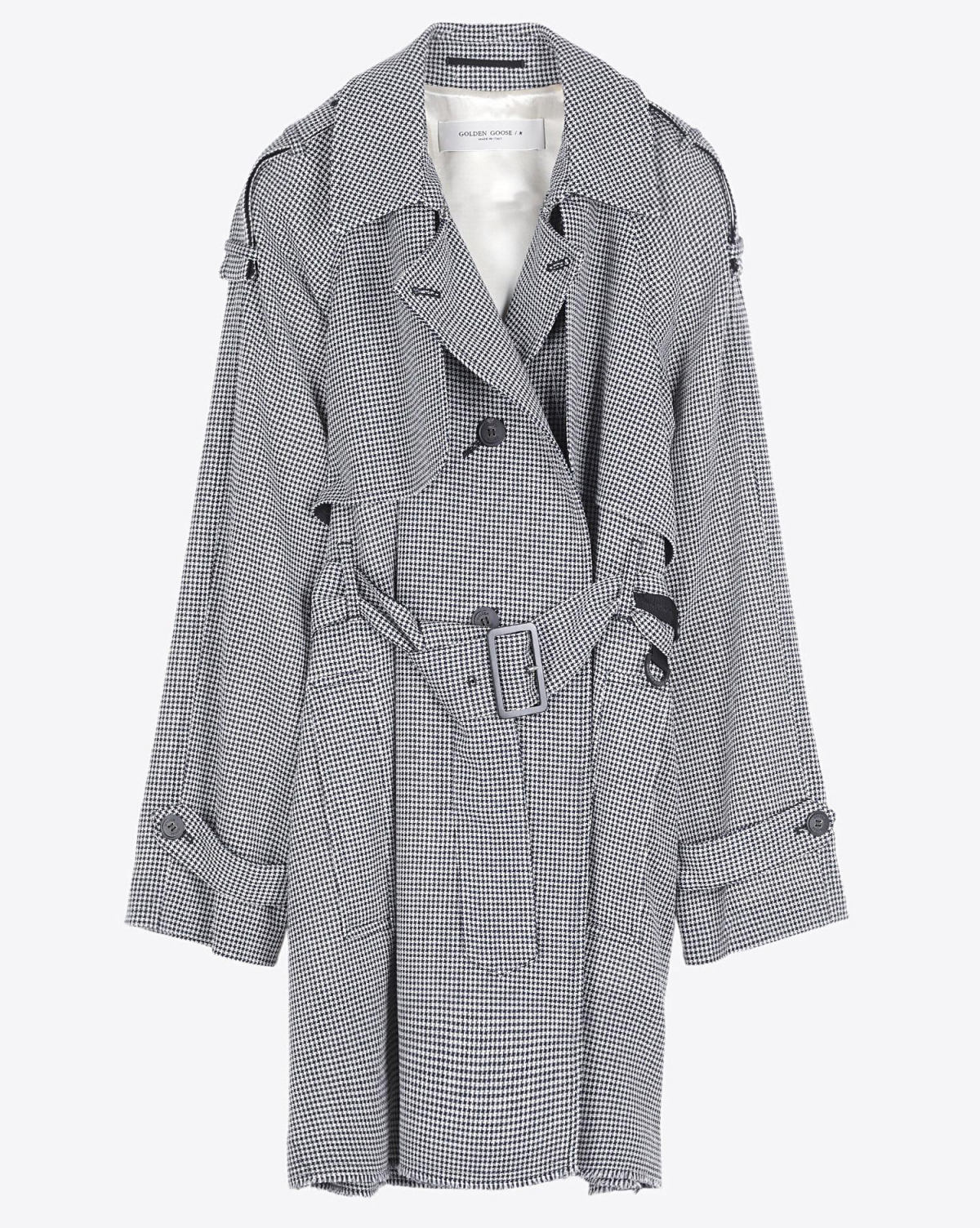 Golden Goose Vêtements Pré-Collection Trench Serenity - Seedpearl /Navy