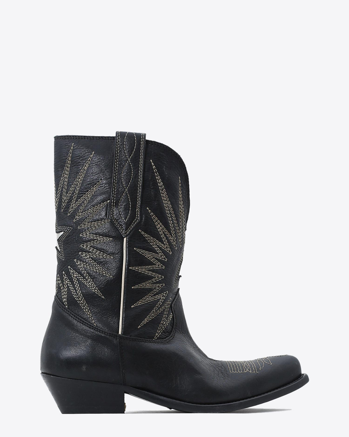 Golden Goose Woman Chaussures Collection Boots Wish Star Low - Black Leather