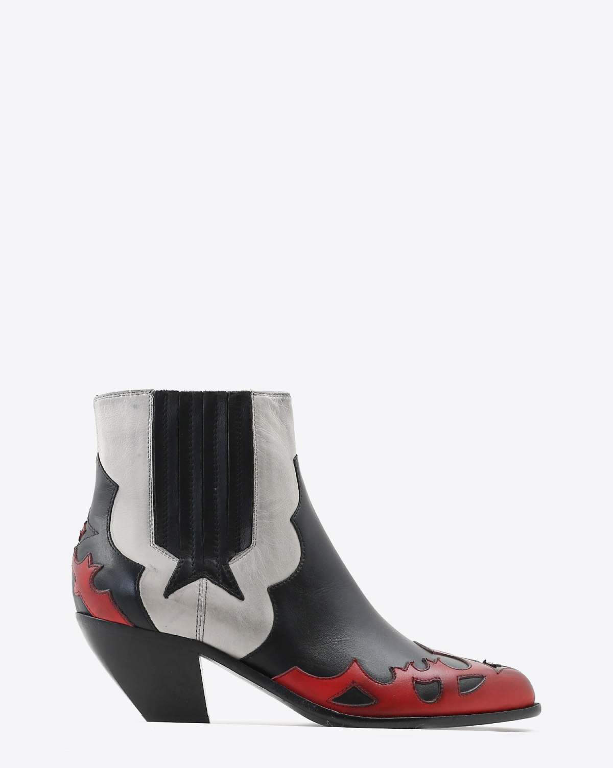 Golden Goose Woman Chaussures Pré-Collection Boots Sunset Flowers - White - Red - Black